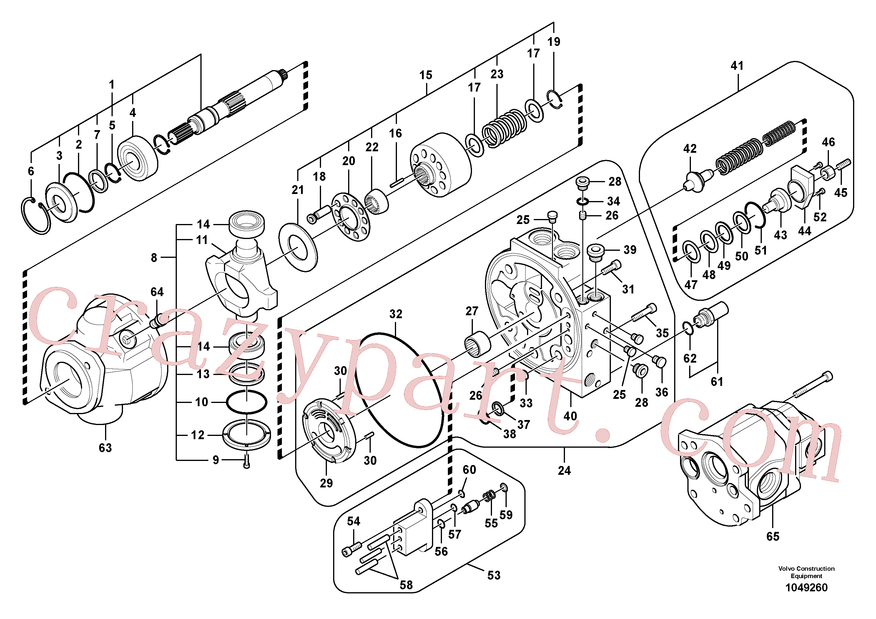 VOE14692347 for Volvo Hydraulic pump(1049260 assembly)