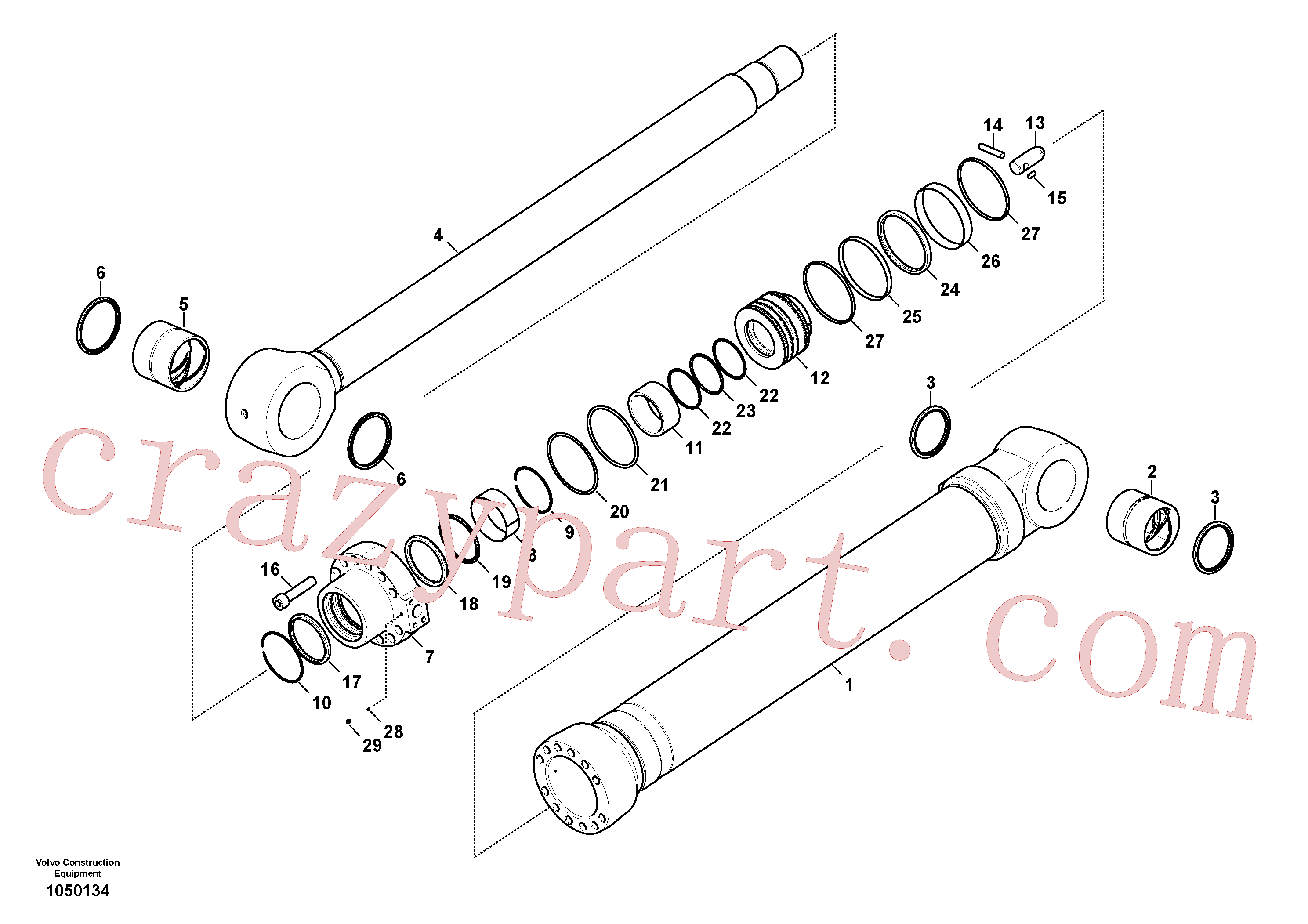 VOE14713115 for Volvo Bucket cylinder(1050134 assembly)