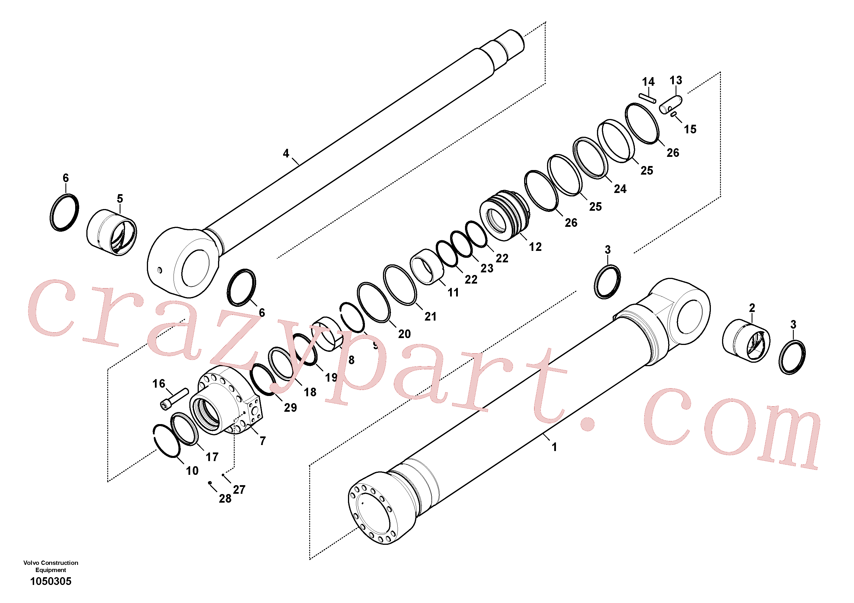 VOE14884992 for Volvo Bucket cylinder(1050305 assembly)