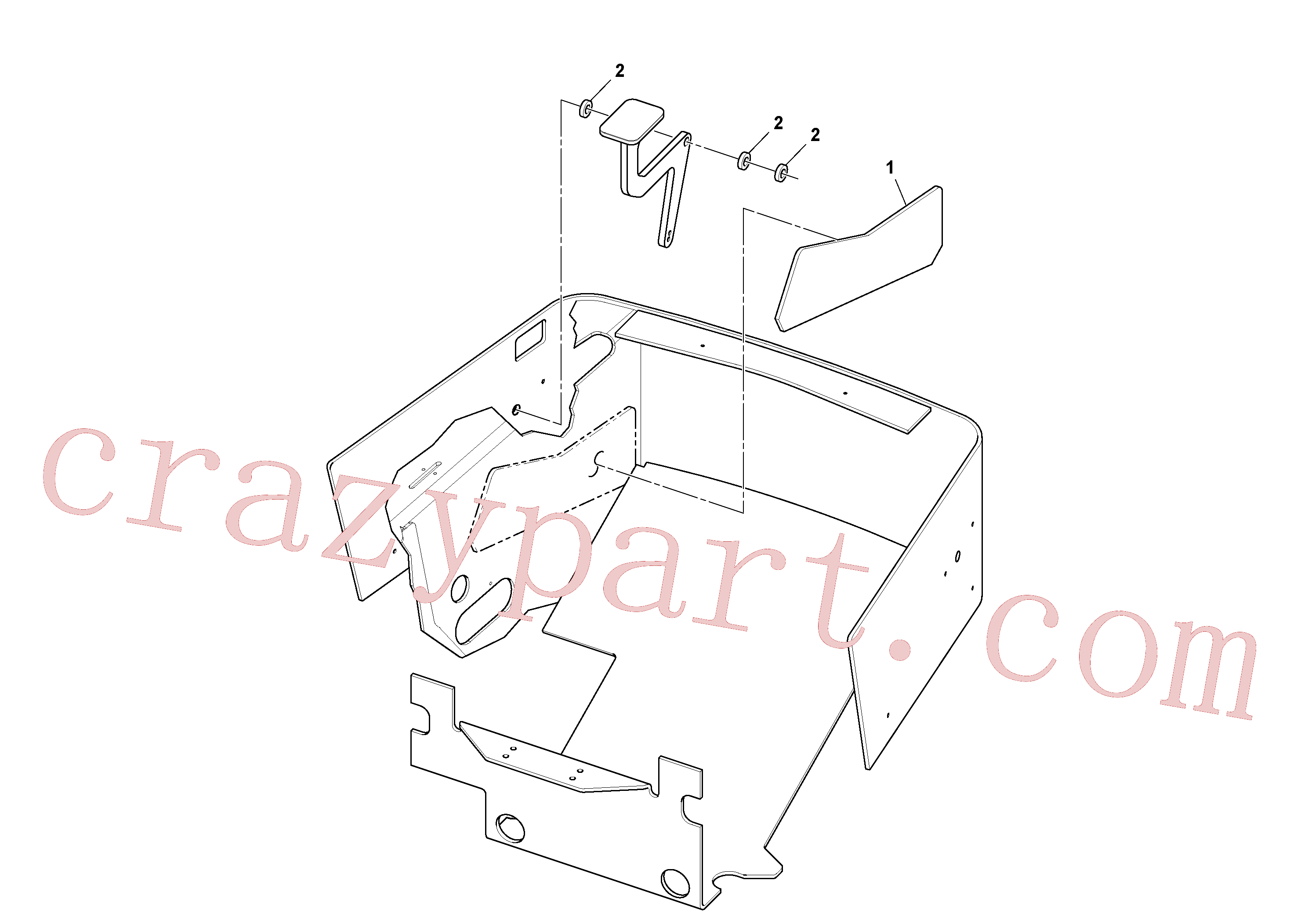 RM96734298 for Volvo Spring Isolation Foam Installation(1051282 assembly)