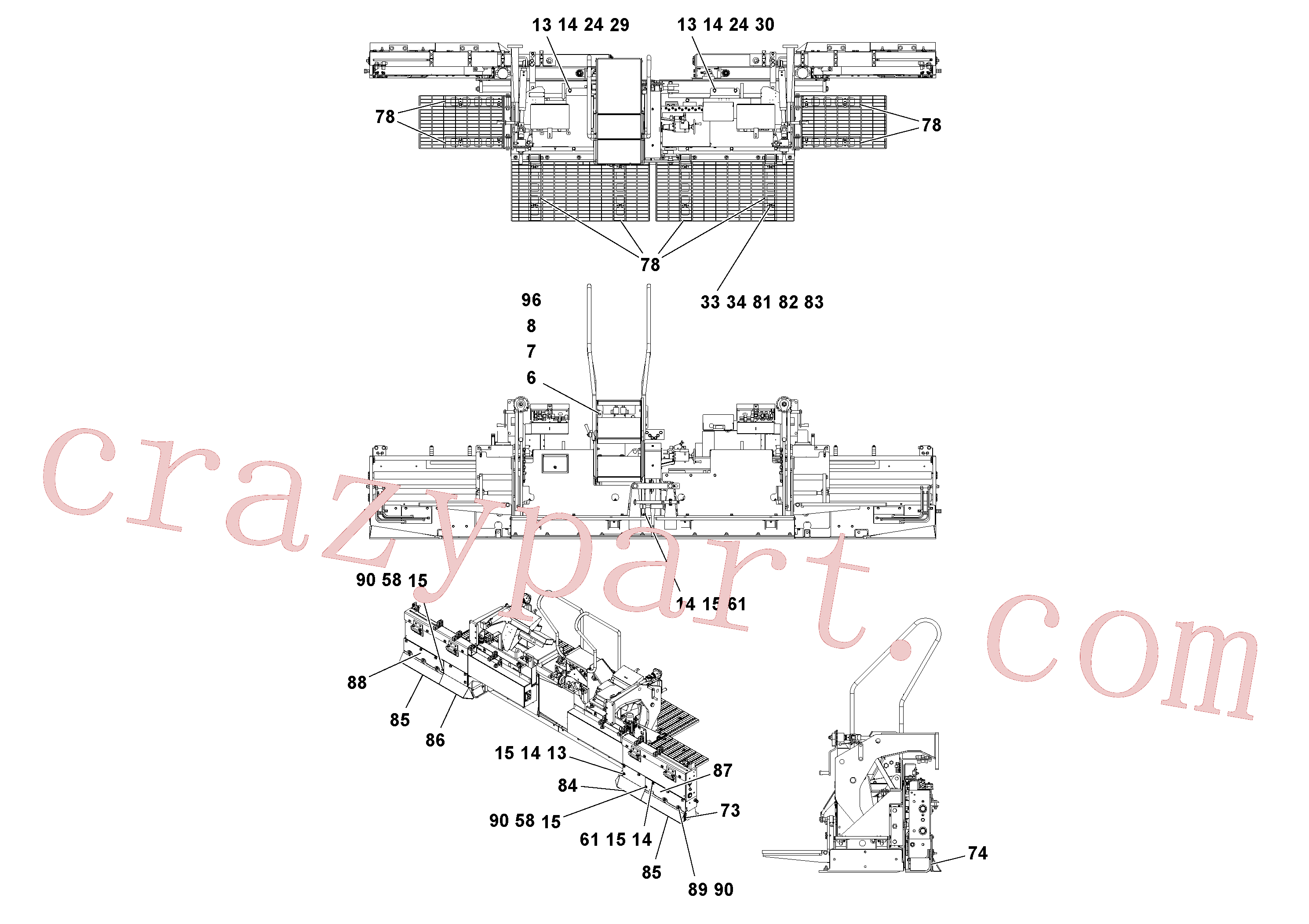 RM95935235 for Volvo Screed Assembly(1051879 assembly)