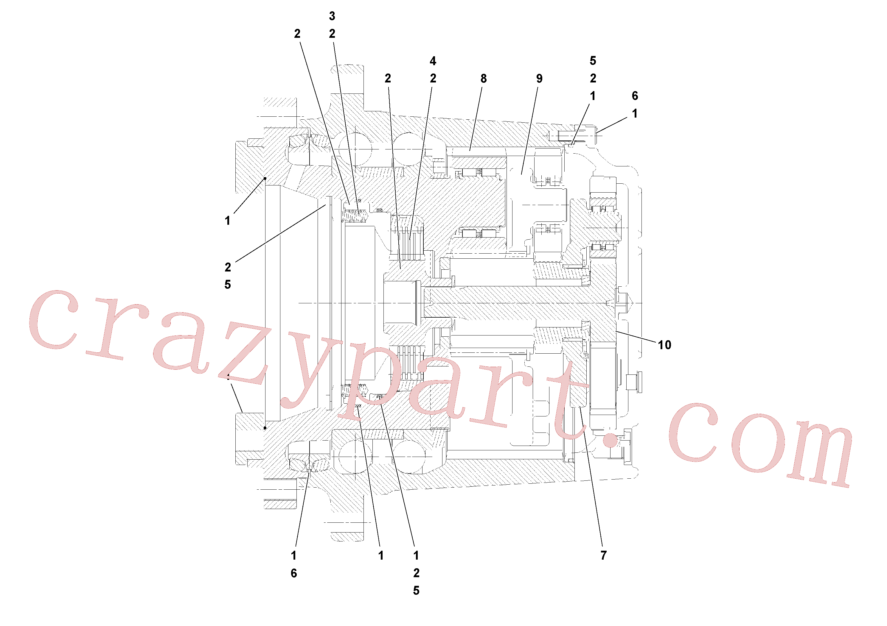 RM20349486 for Volvo Planetary drive(1052017 assembly)