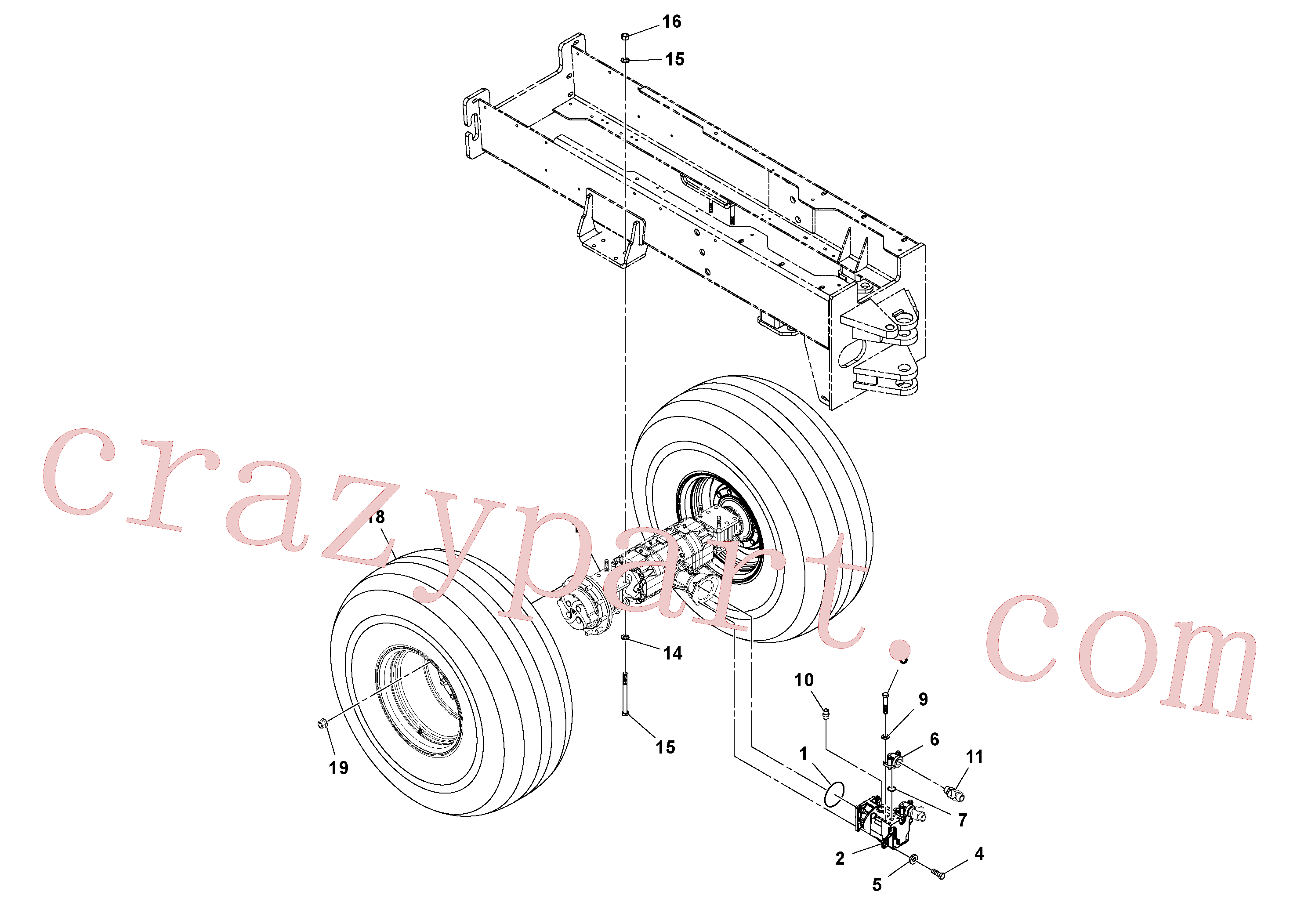 RM43844422 for Volvo Axle And Wheel Installation(1052649 assembly)