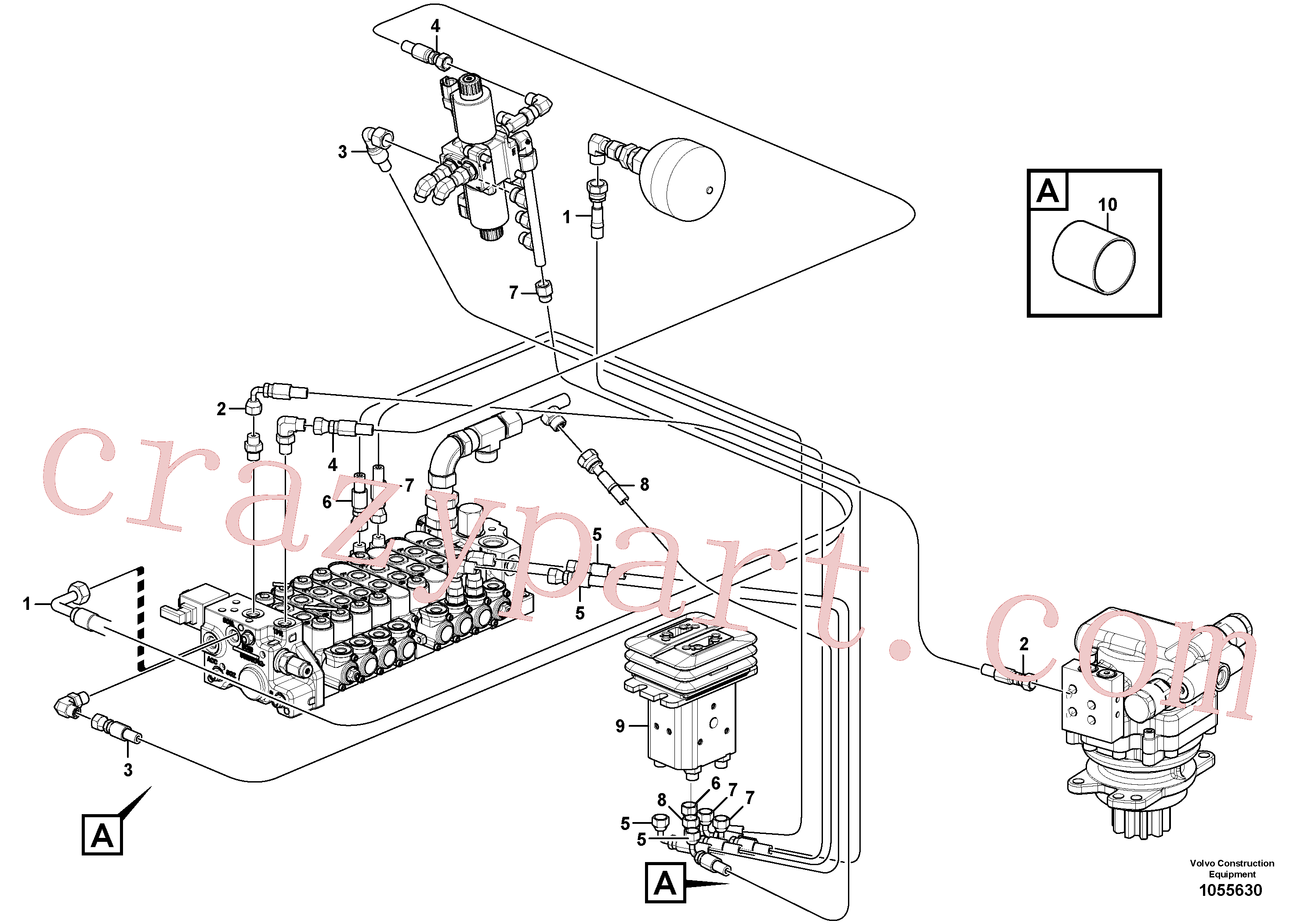 VOE936973 for Volvo Hydraulic circuit ( low pressure )(1055630 assembly)