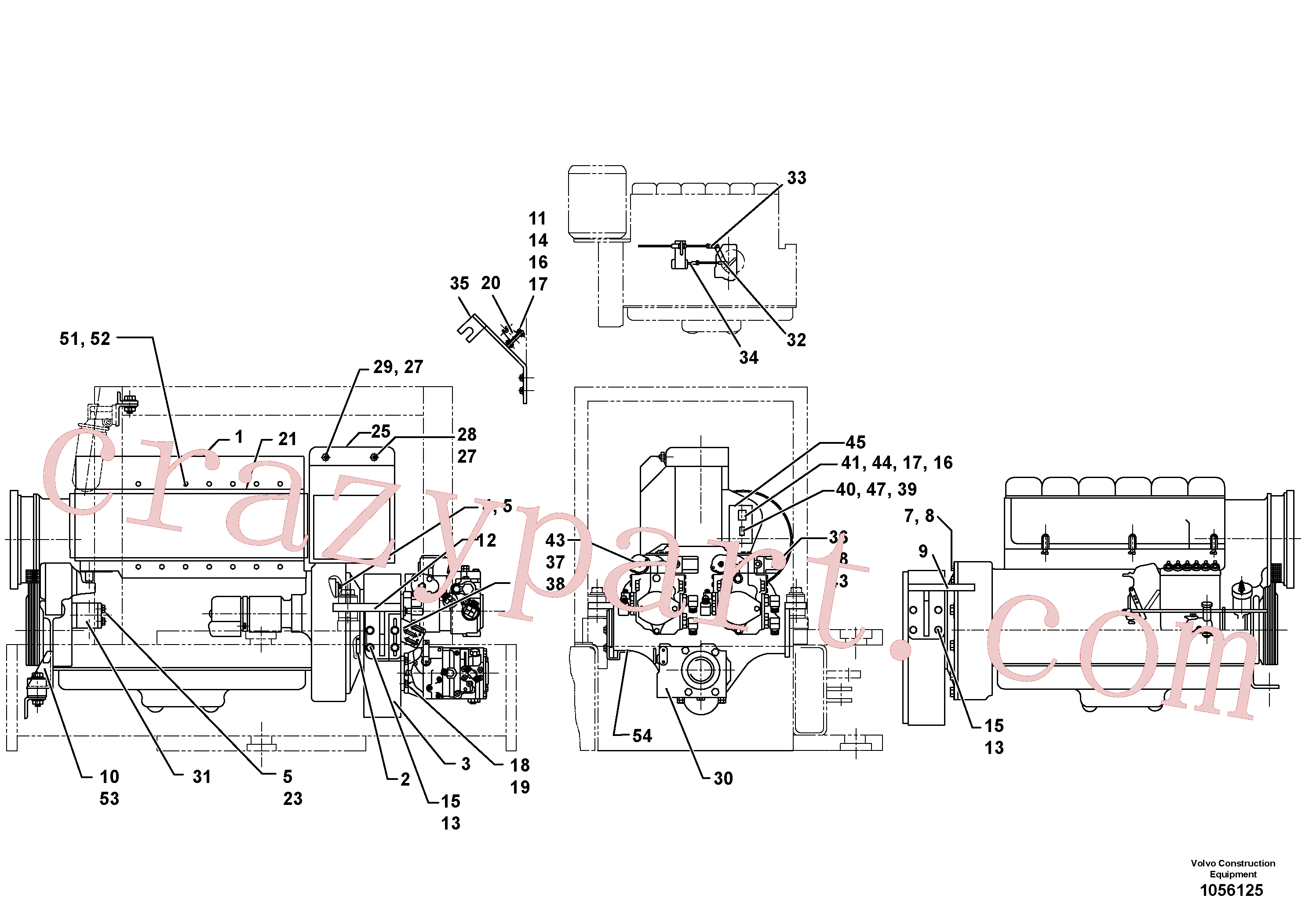 RM96712773 for Volvo Engine assembly(1056125 assembly)