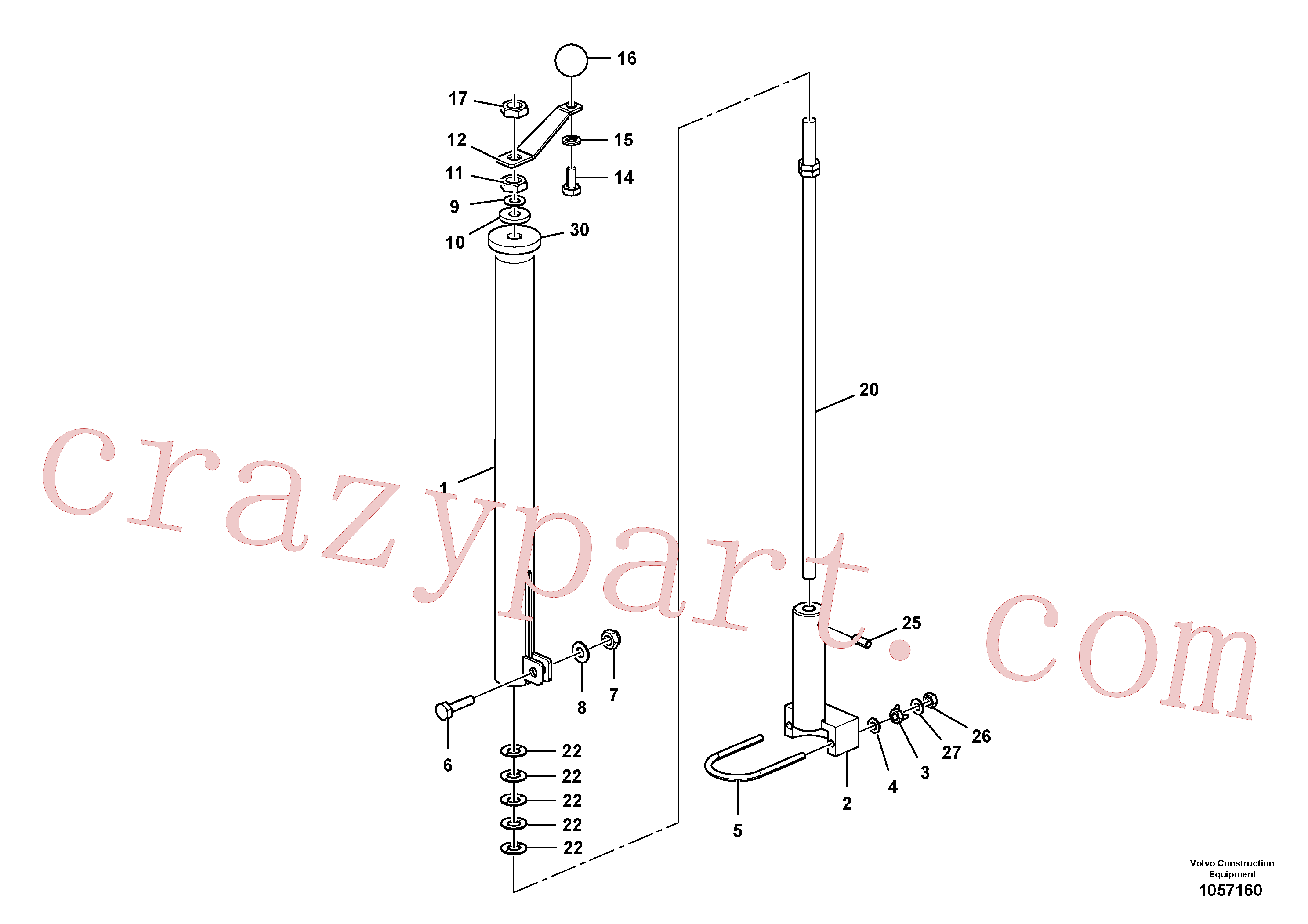 RM56291081 for Volvo Mech Control Assembly(1057160 assembly)