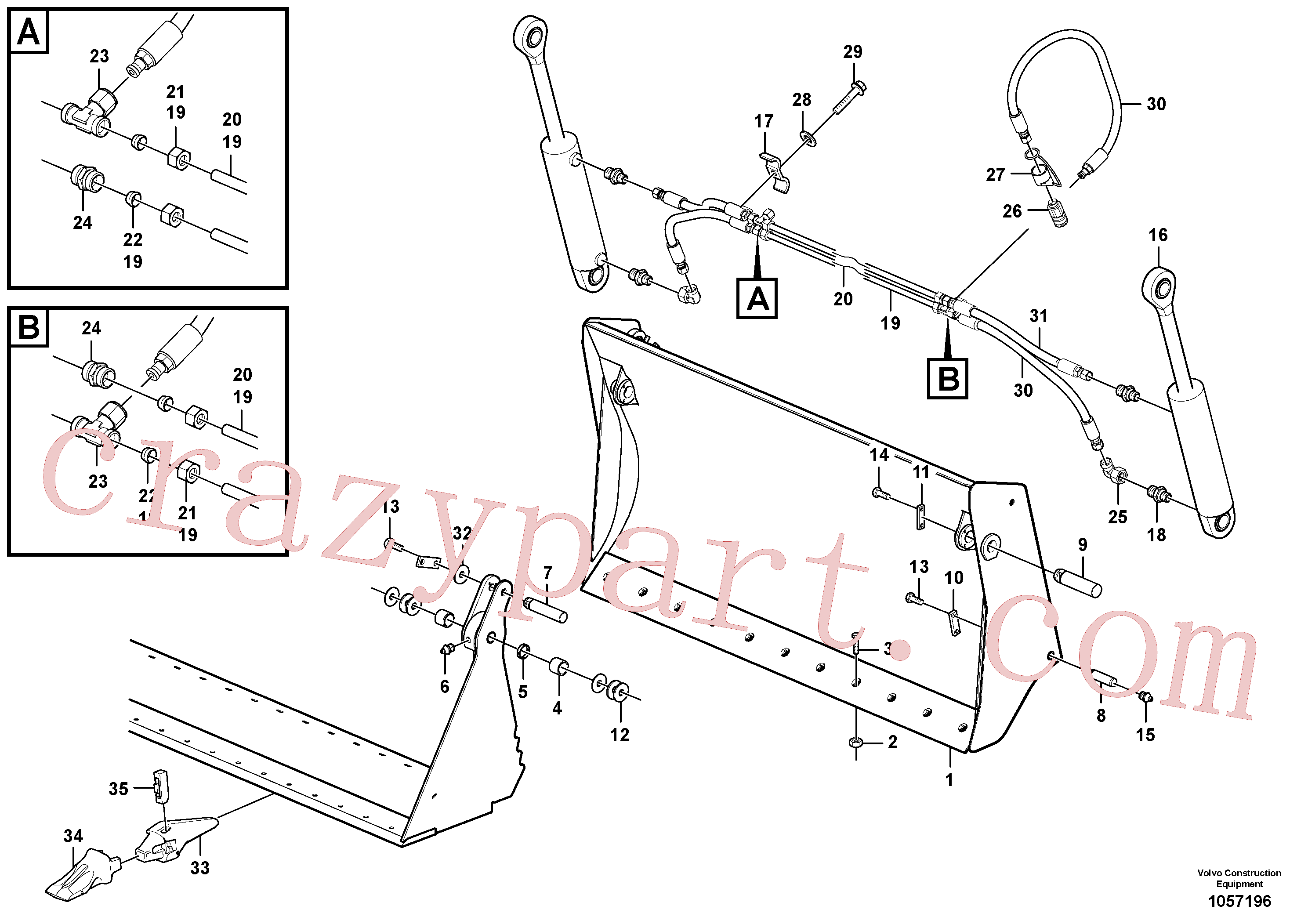 ZM7092963 for Volvo Multi-purpose bucket(1057196 assembly)