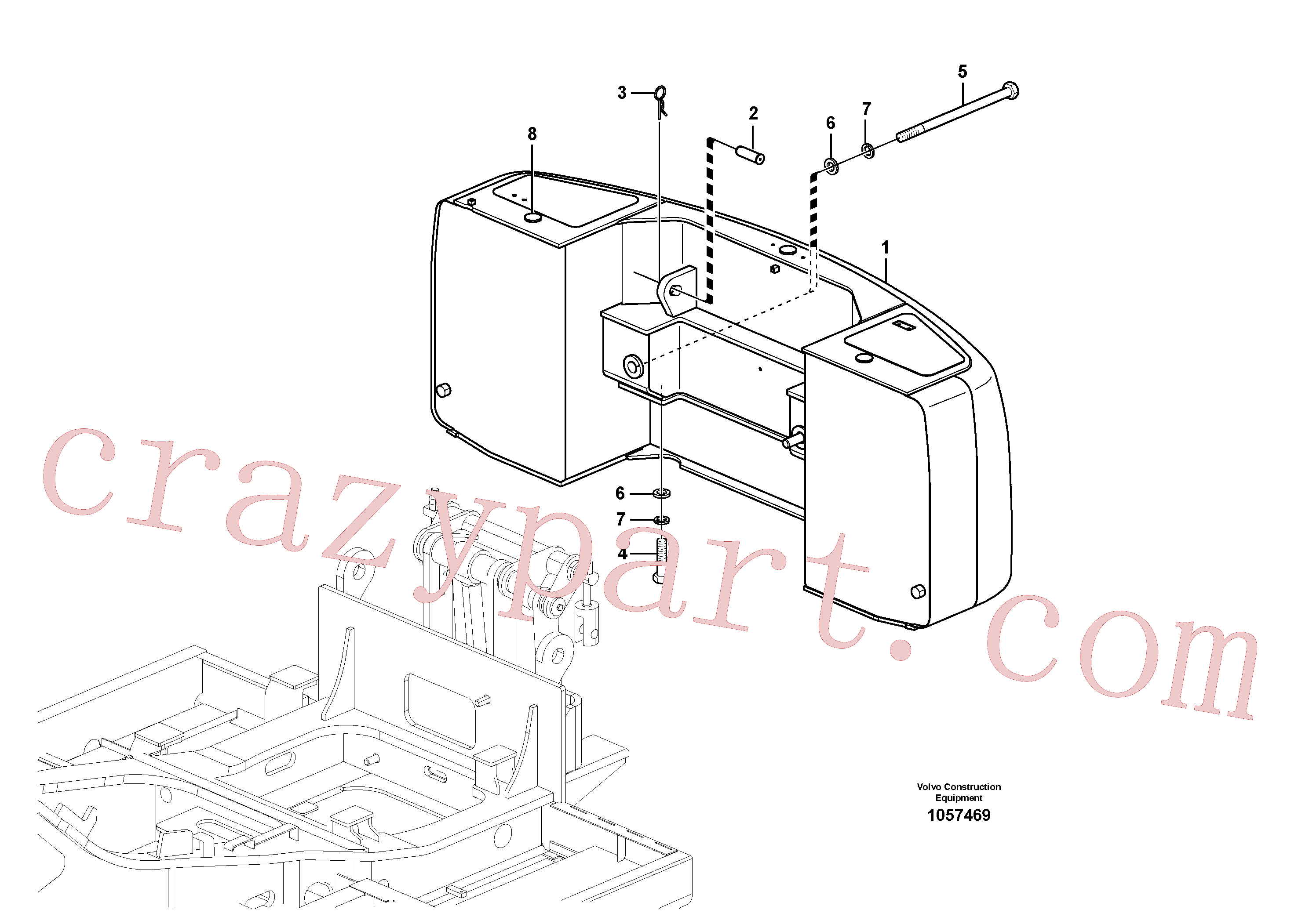 SA9326-26000 for Volvo Counterweights(1057469 assembly)