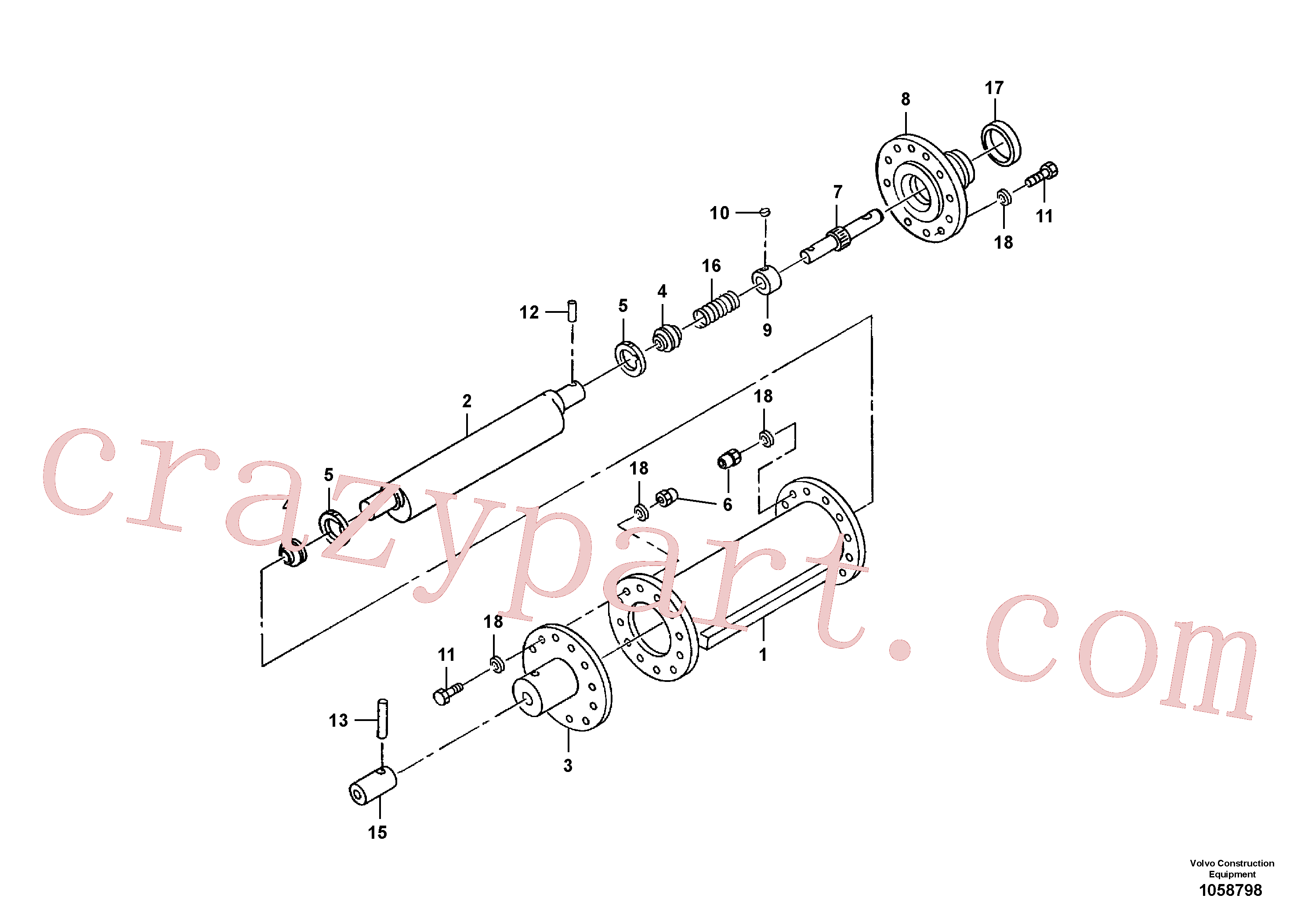 RM95571568 for Volvo Eccentric Shaft Assembly(1058798 assembly)