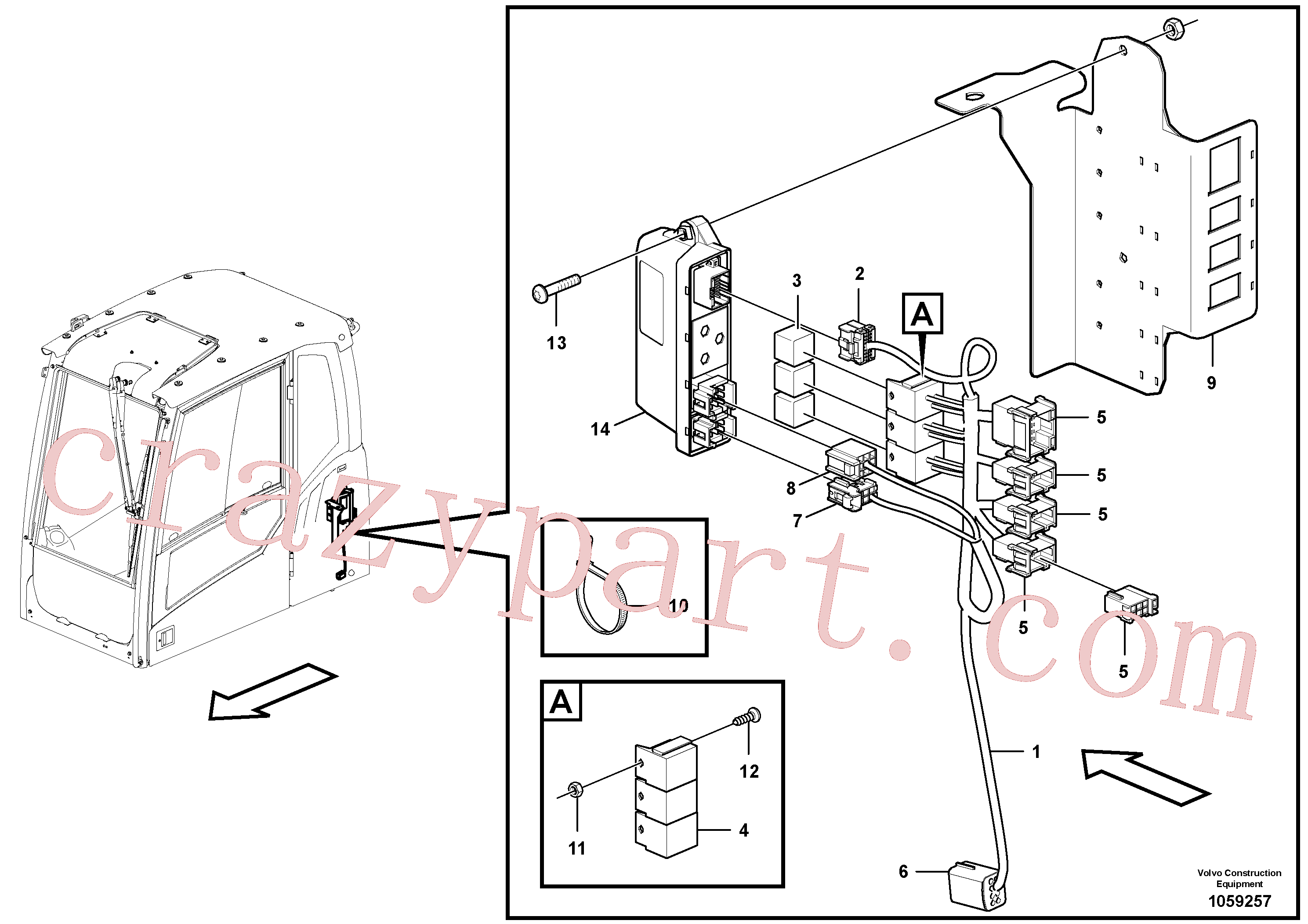 PJ4410007 for Volvo Cable harness, rototilt(1059257 assembly)