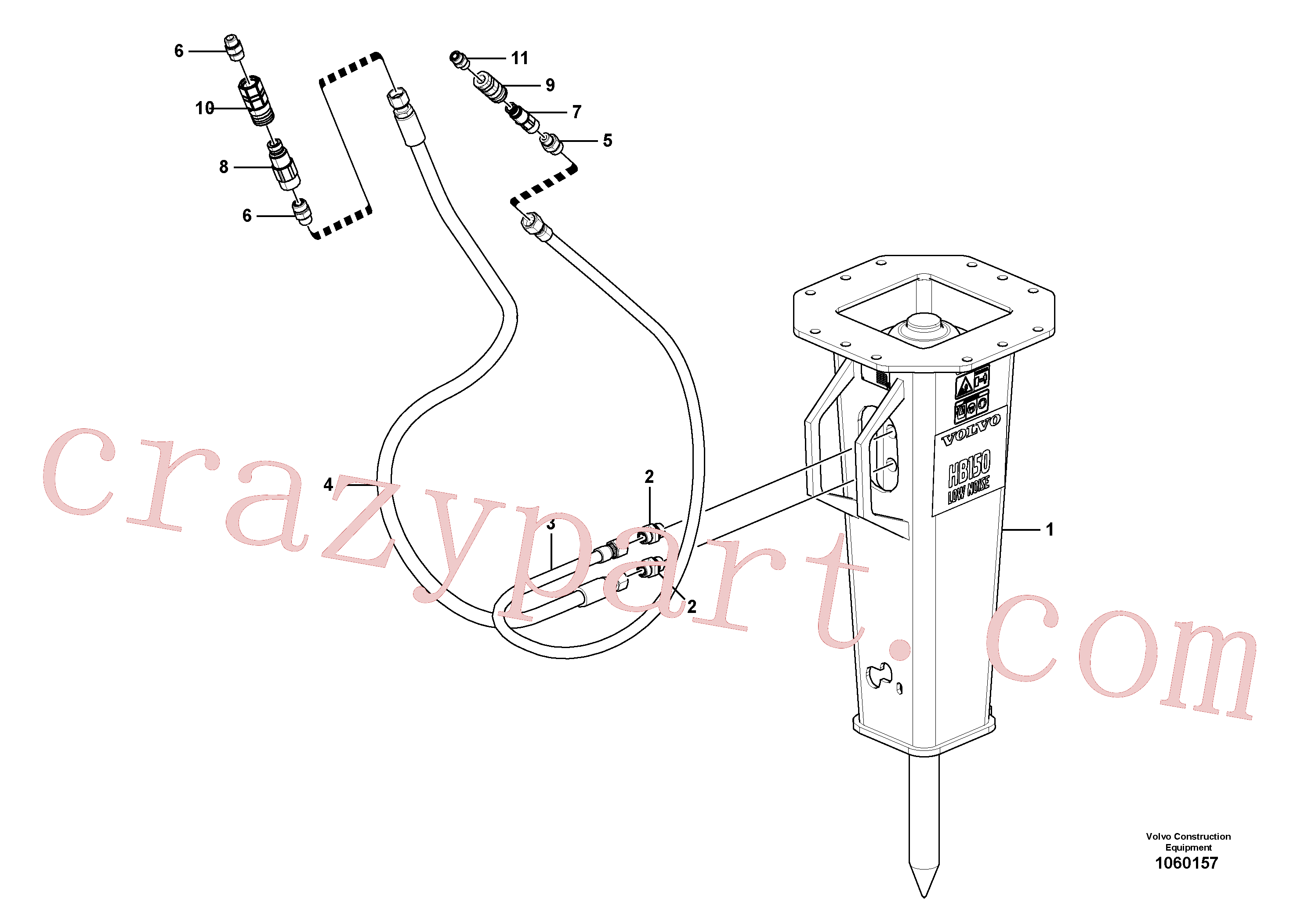 VOE13933881 for Volvo Hammer(1060157 assembly)