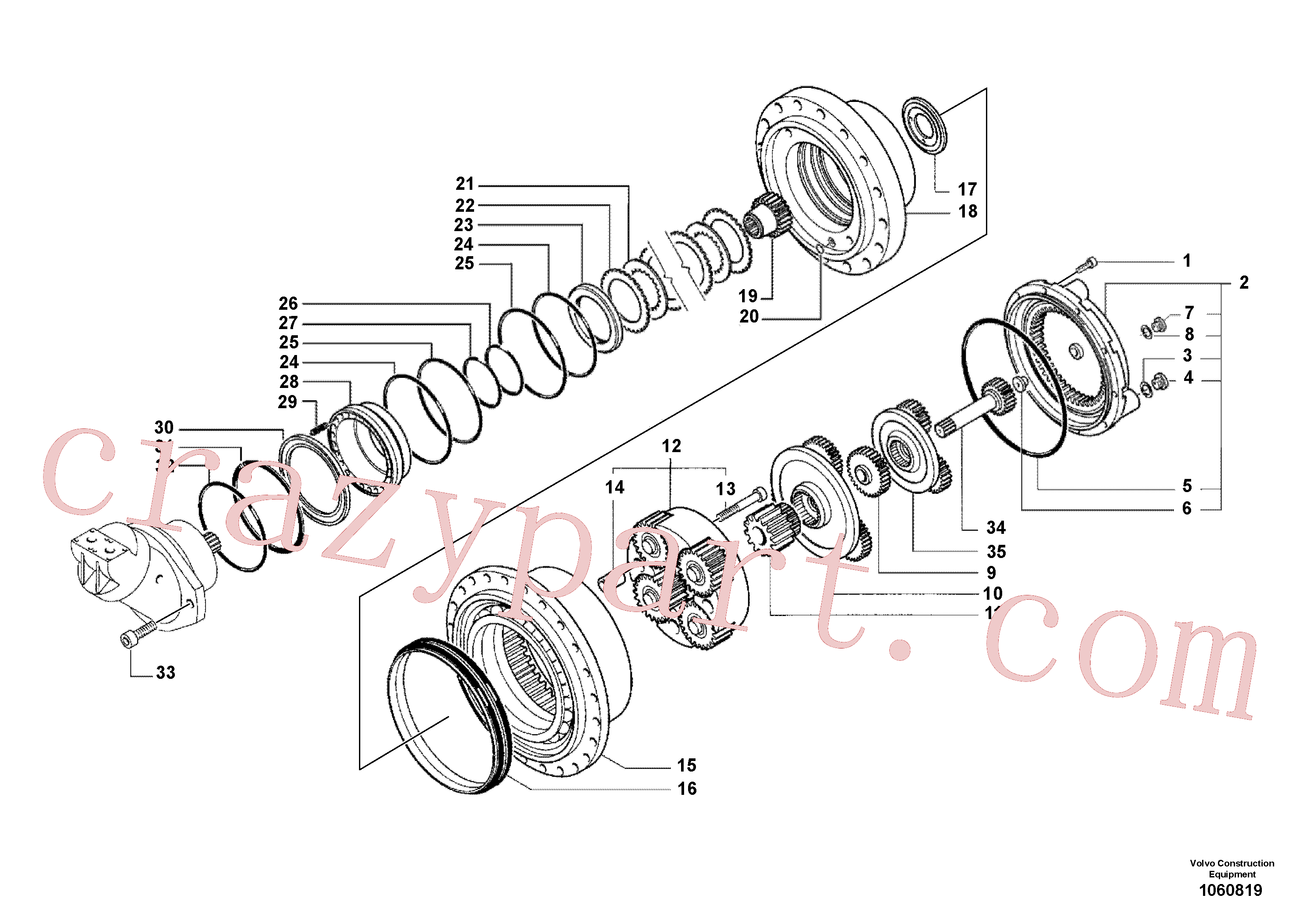 RM70921267 for Volvo Gearbox(1060819 assembly)