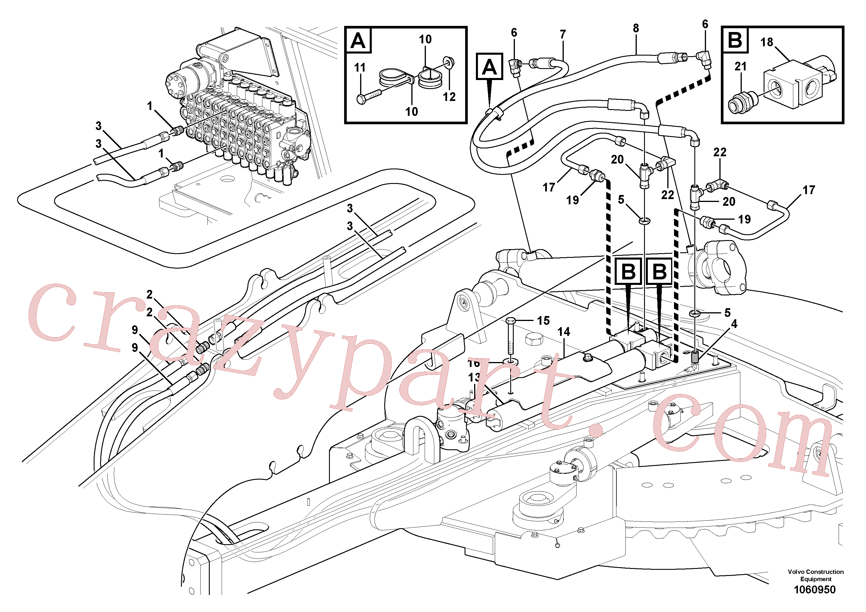 VOE935664 for Volvo Circle shift circuit(1060950 assembly)