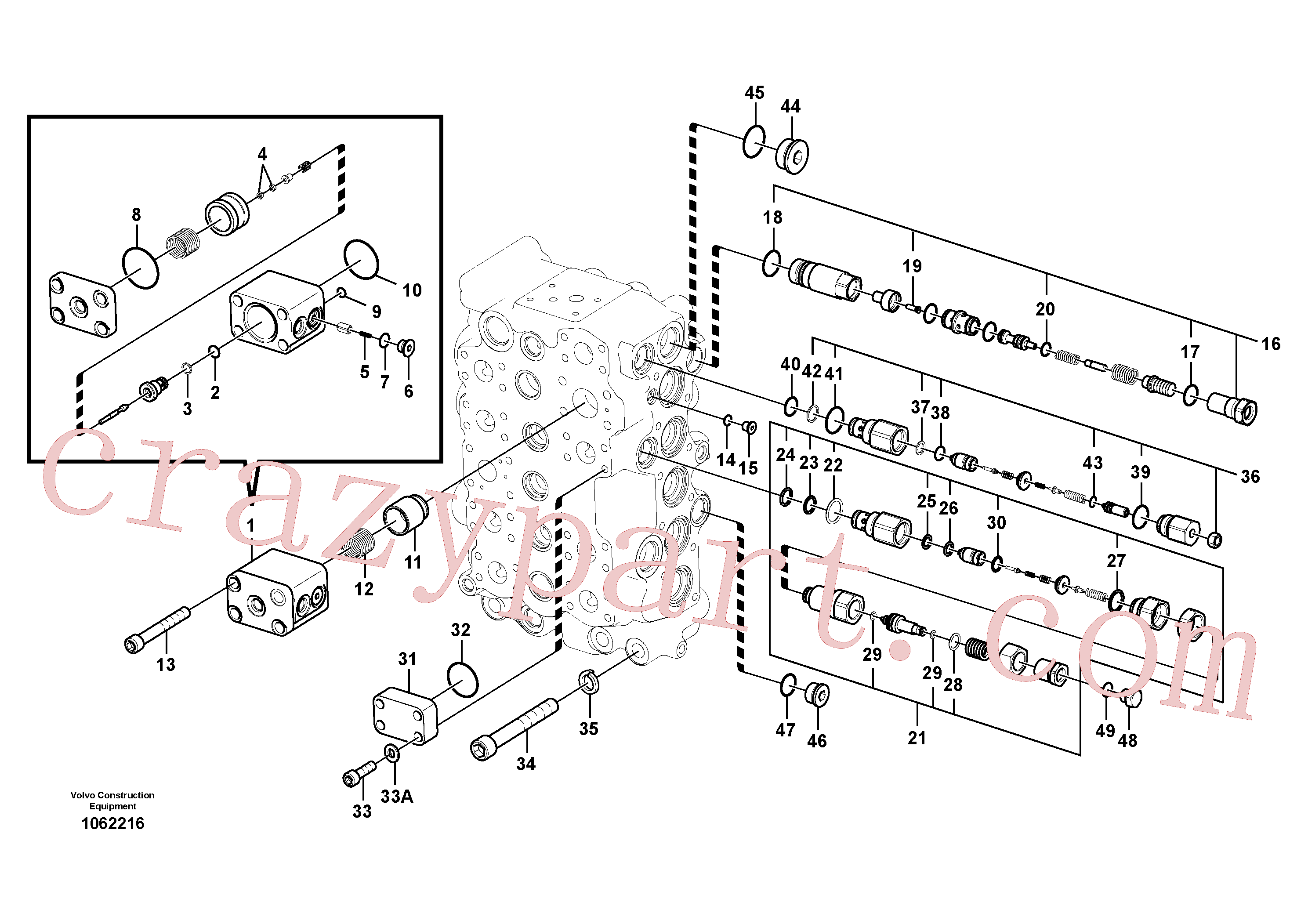 VOE14644911 for Volvo Main control valve(1062216 assembly)