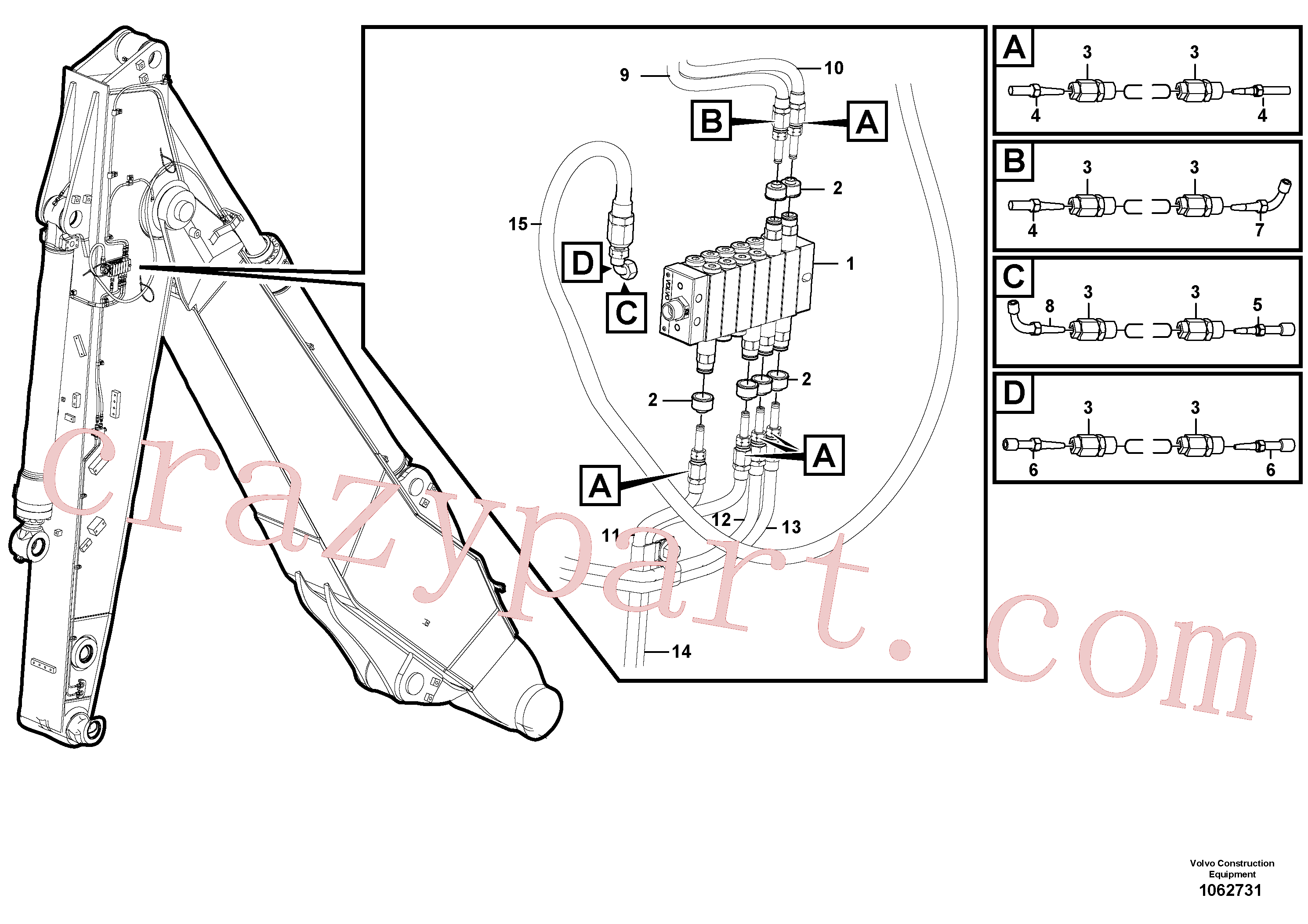 VOE14389578 for Volvo Distributor set, arm(1062731 assembly)