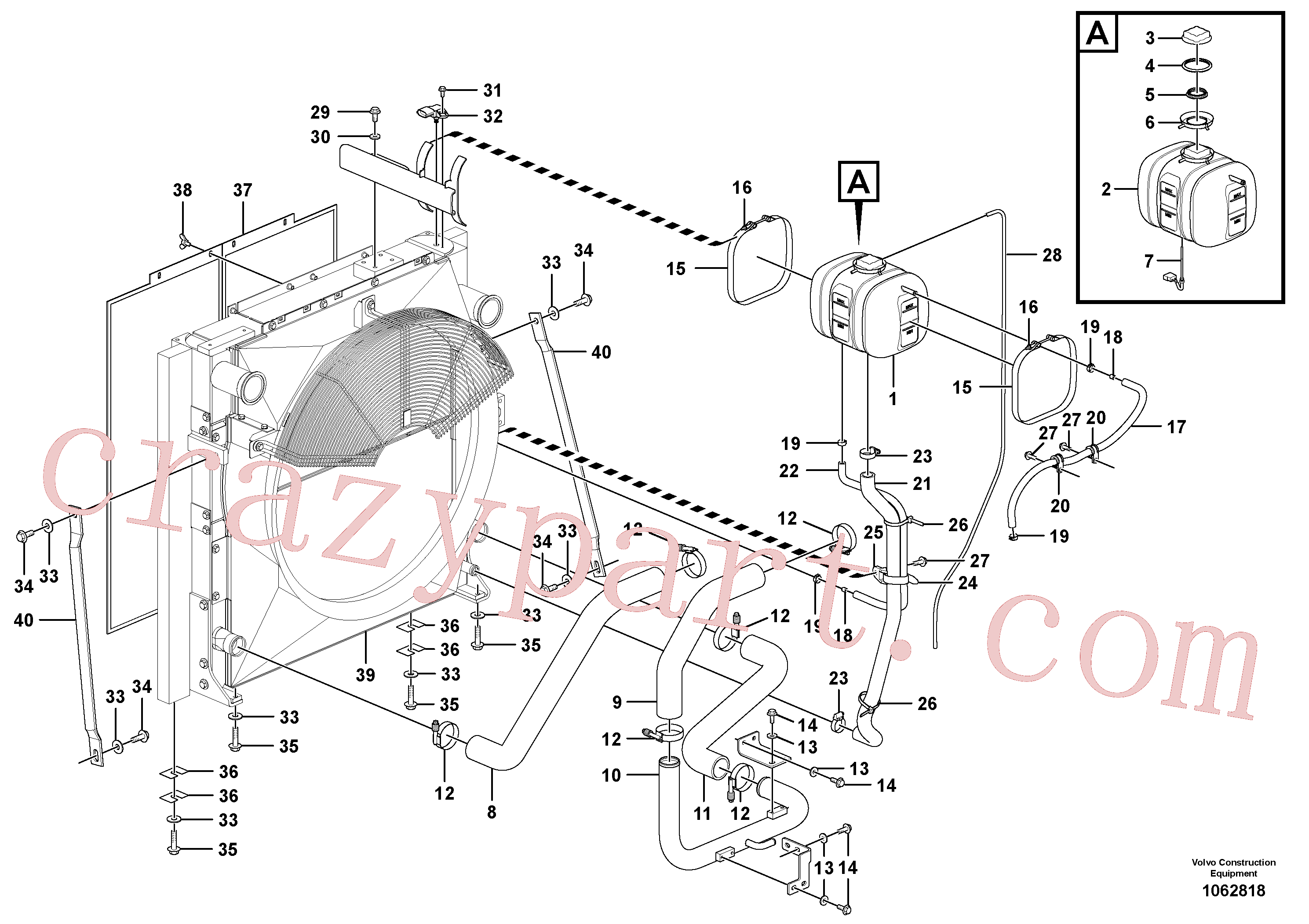 VOE14527372 for Volvo Cooling system(1062818 assembly)