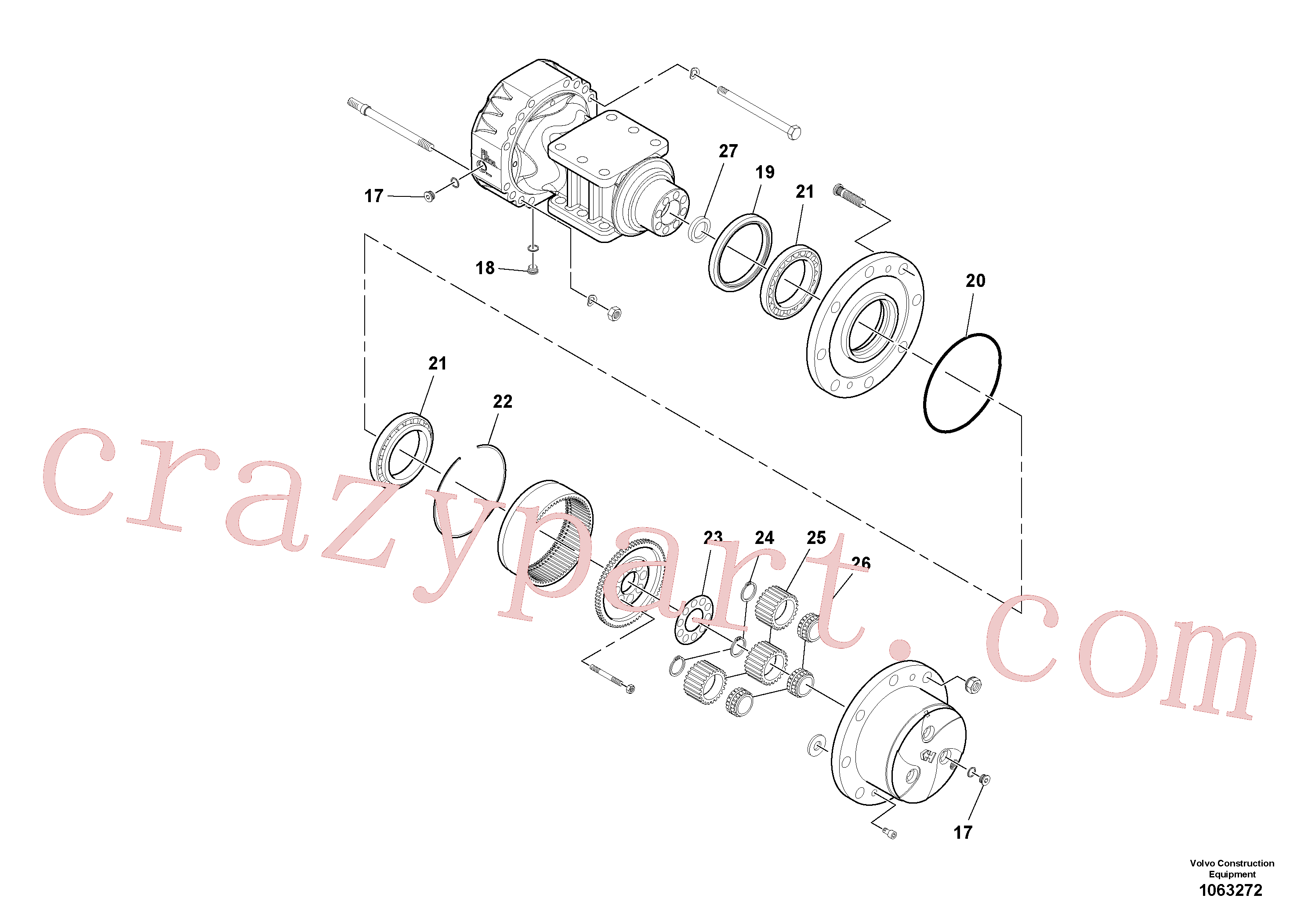 RM59153627 for Volvo Axle(1063272 assembly)