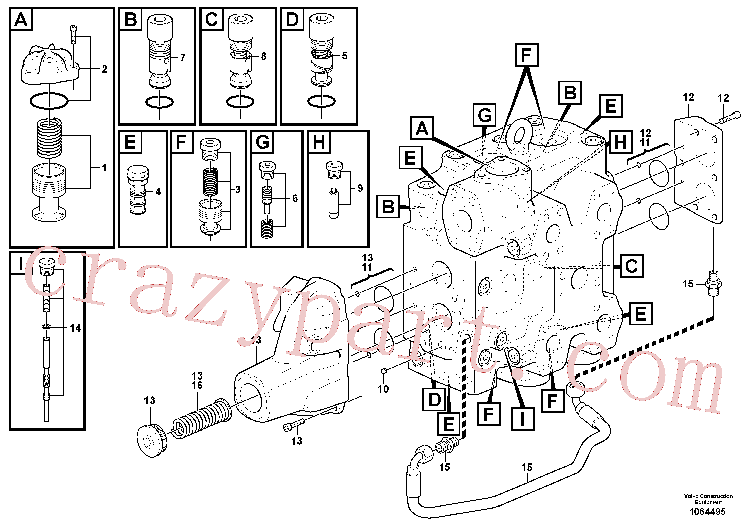 VOE11705097 for Volvo Control valve(1064495 assembly)