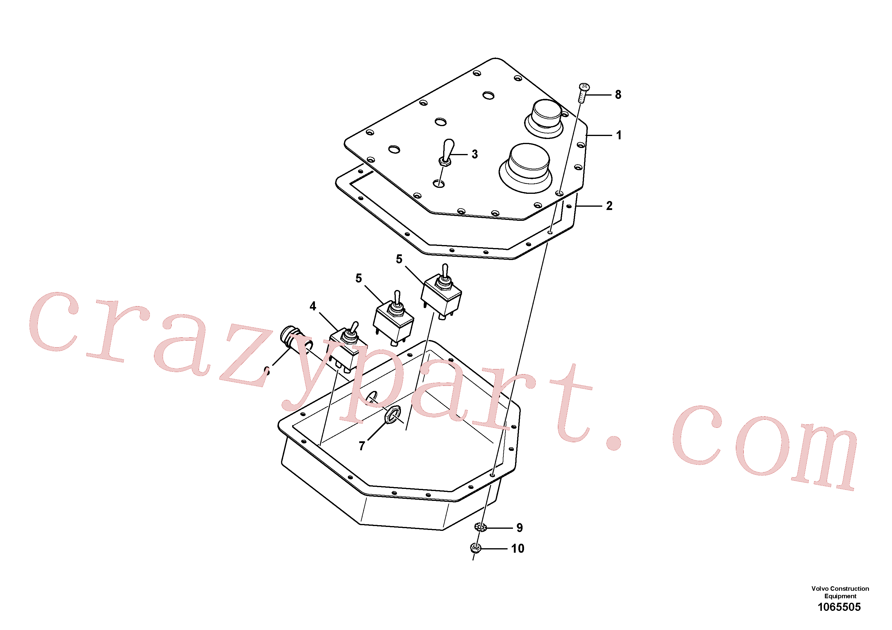RM14106892 for Volvo Alternate Control Board(1065505 assembly)