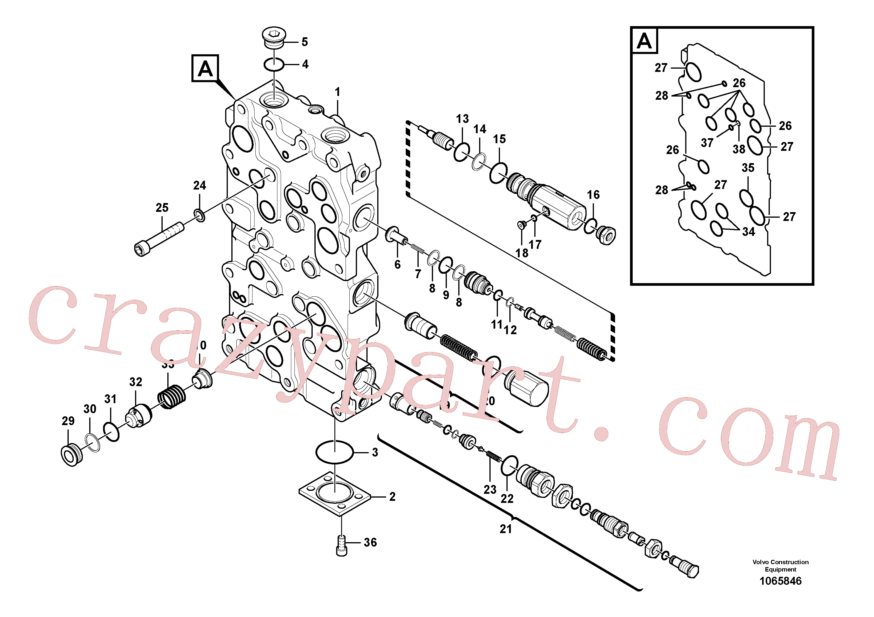 SA9566-10250 for Volvo Main control valve(1065846 assembly)