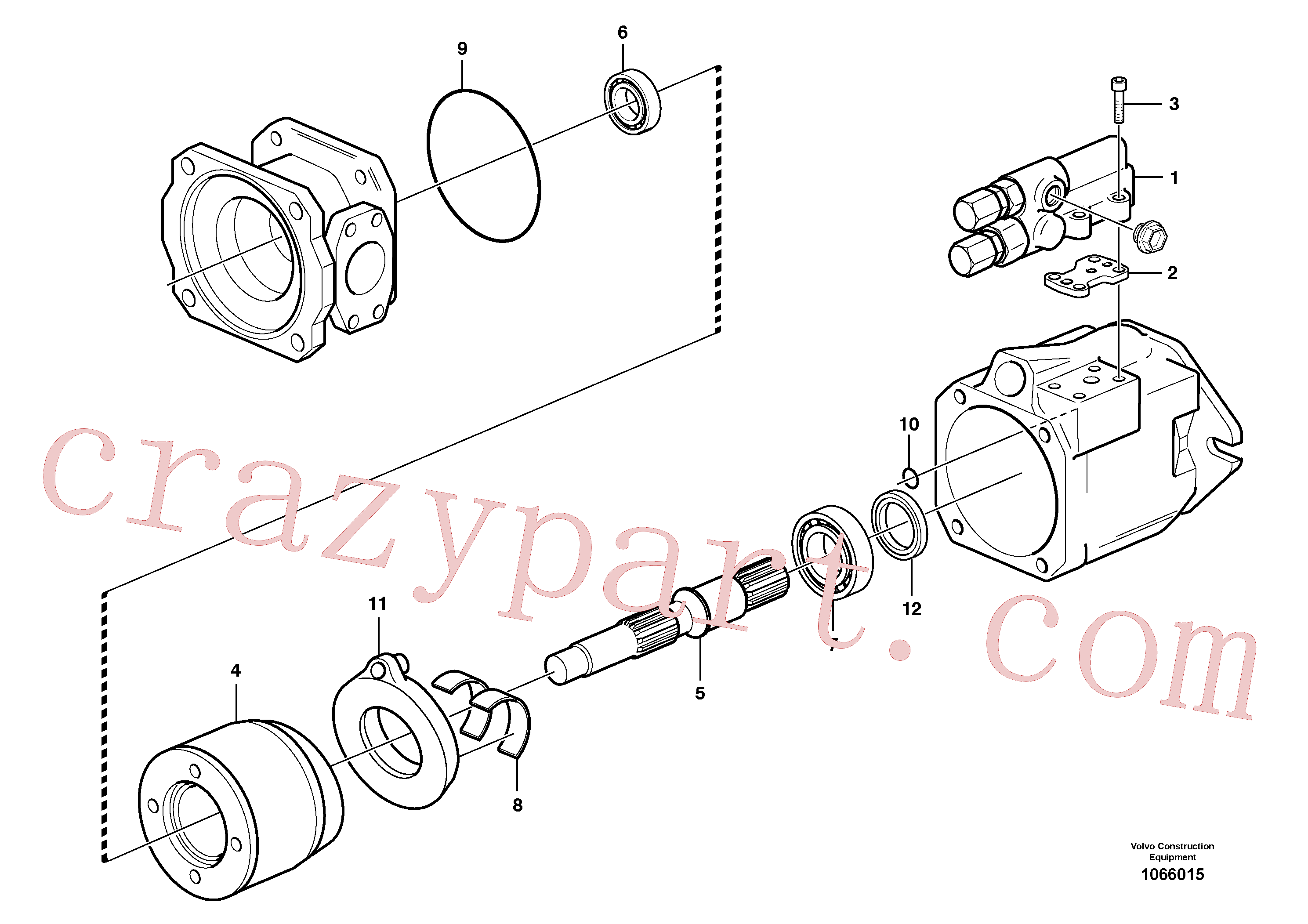 PJ7412842 for Volvo Hydraulic pump(1066015 assembly)