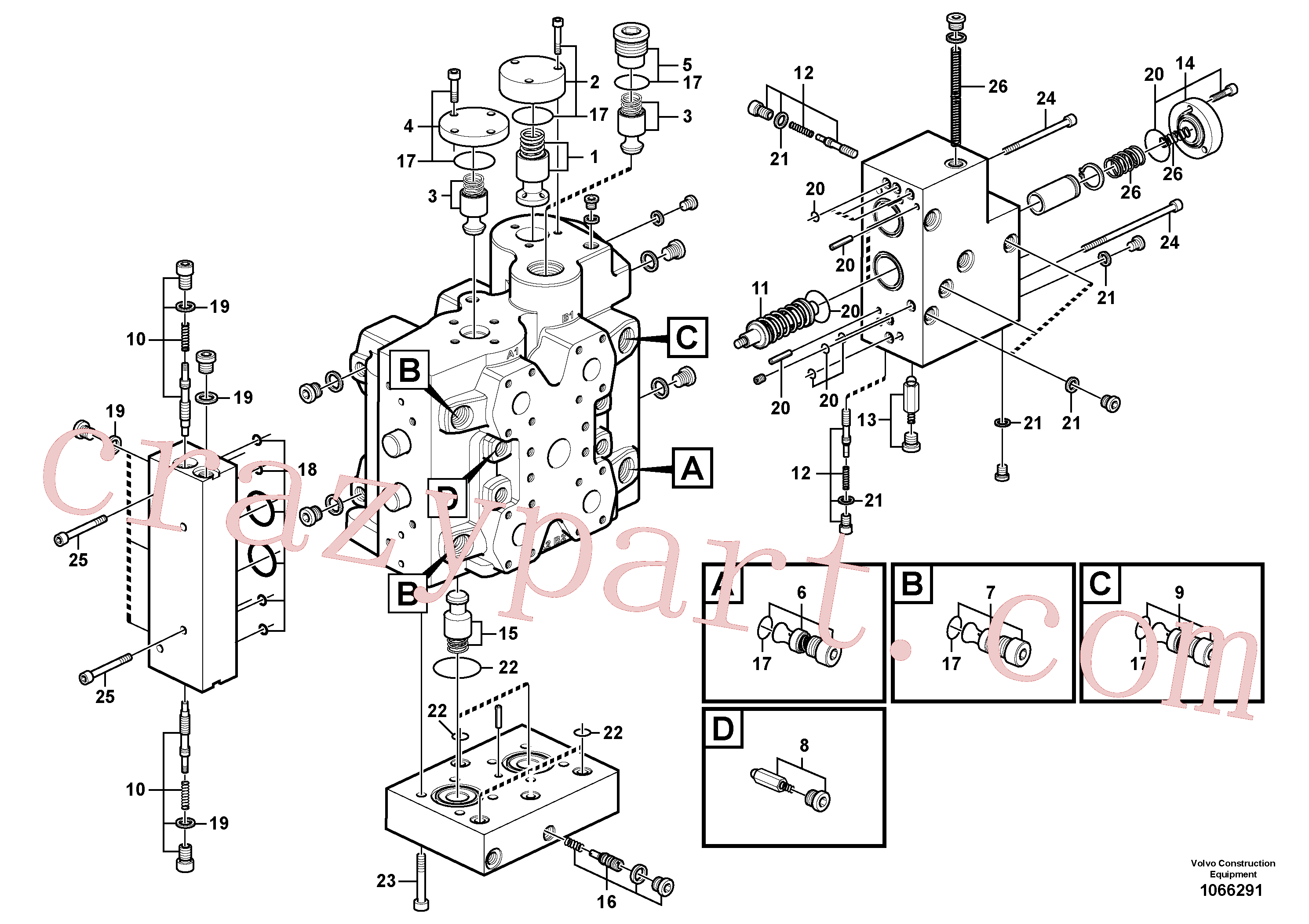 VOE11705097 for Volvo Control valve(1066291 assembly)