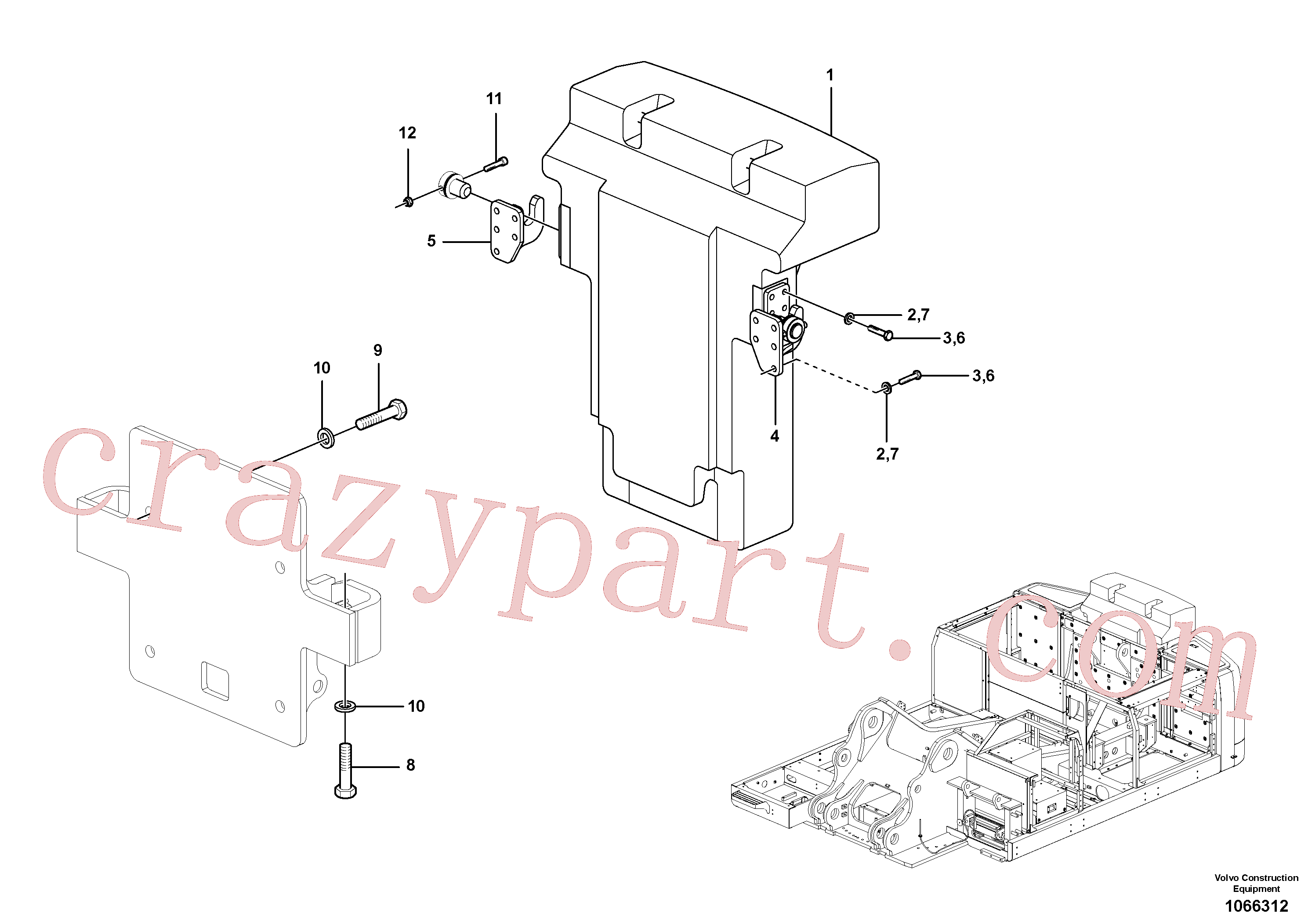 ZM4334202 for Volvo Counterweights(1066312 assembly)