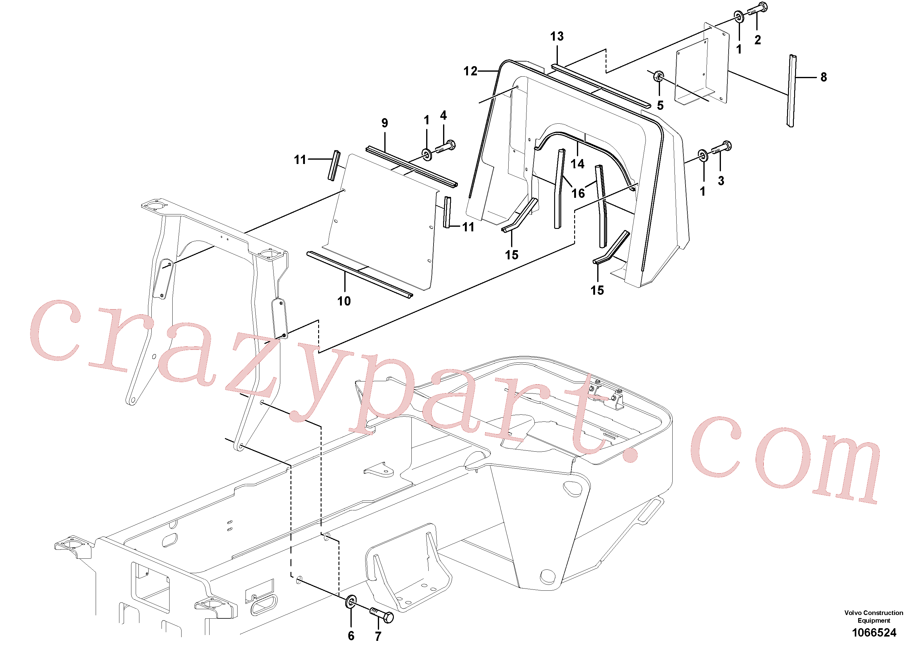 RM96734298 for Volvo Operator's Platform(1066524 assembly)