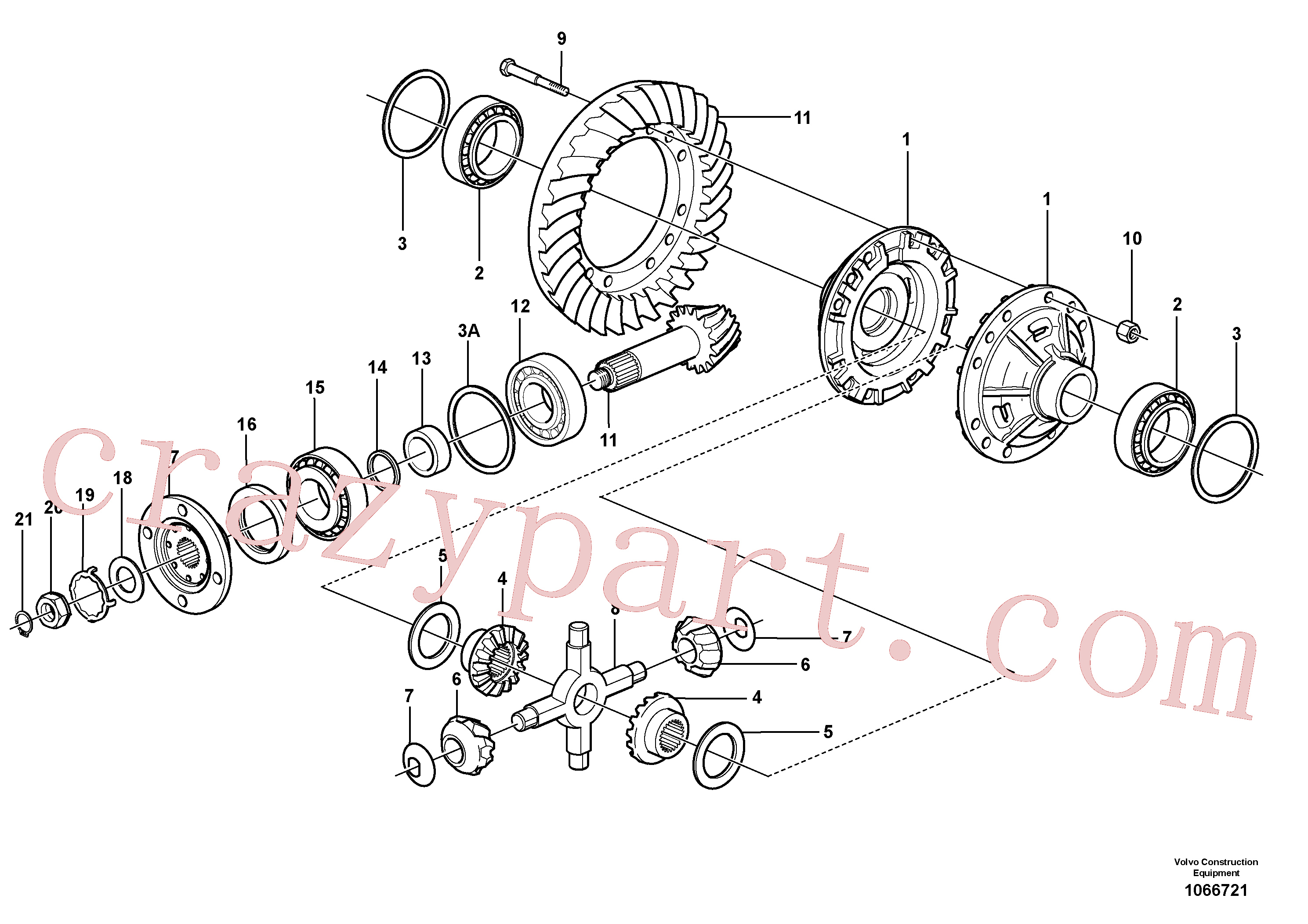 VOE11168039 for Volvo Final drive, rear(1066721 assembly)