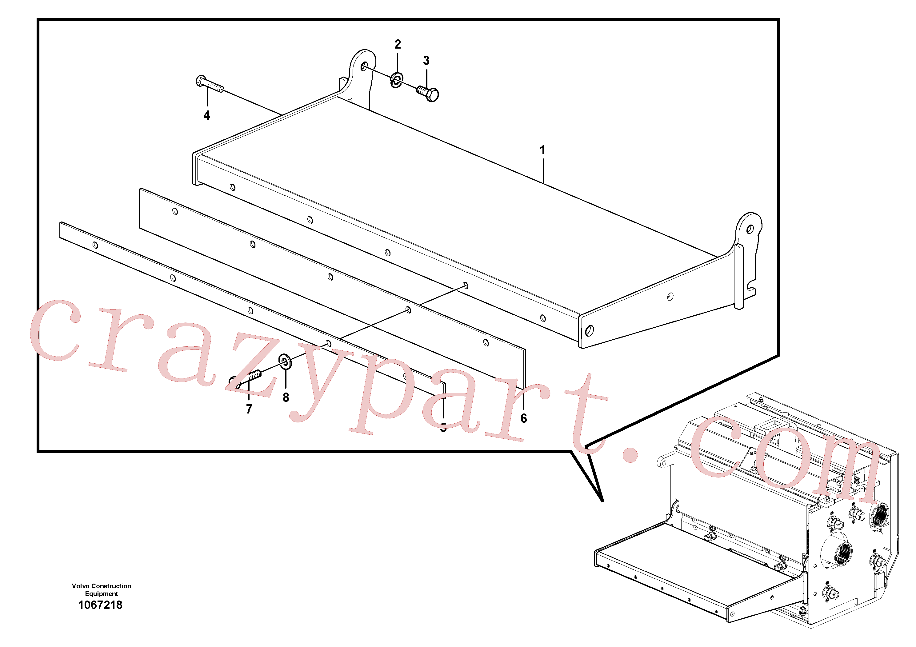 RM80765134 for Volvo Catwalk(1067218 assembly)