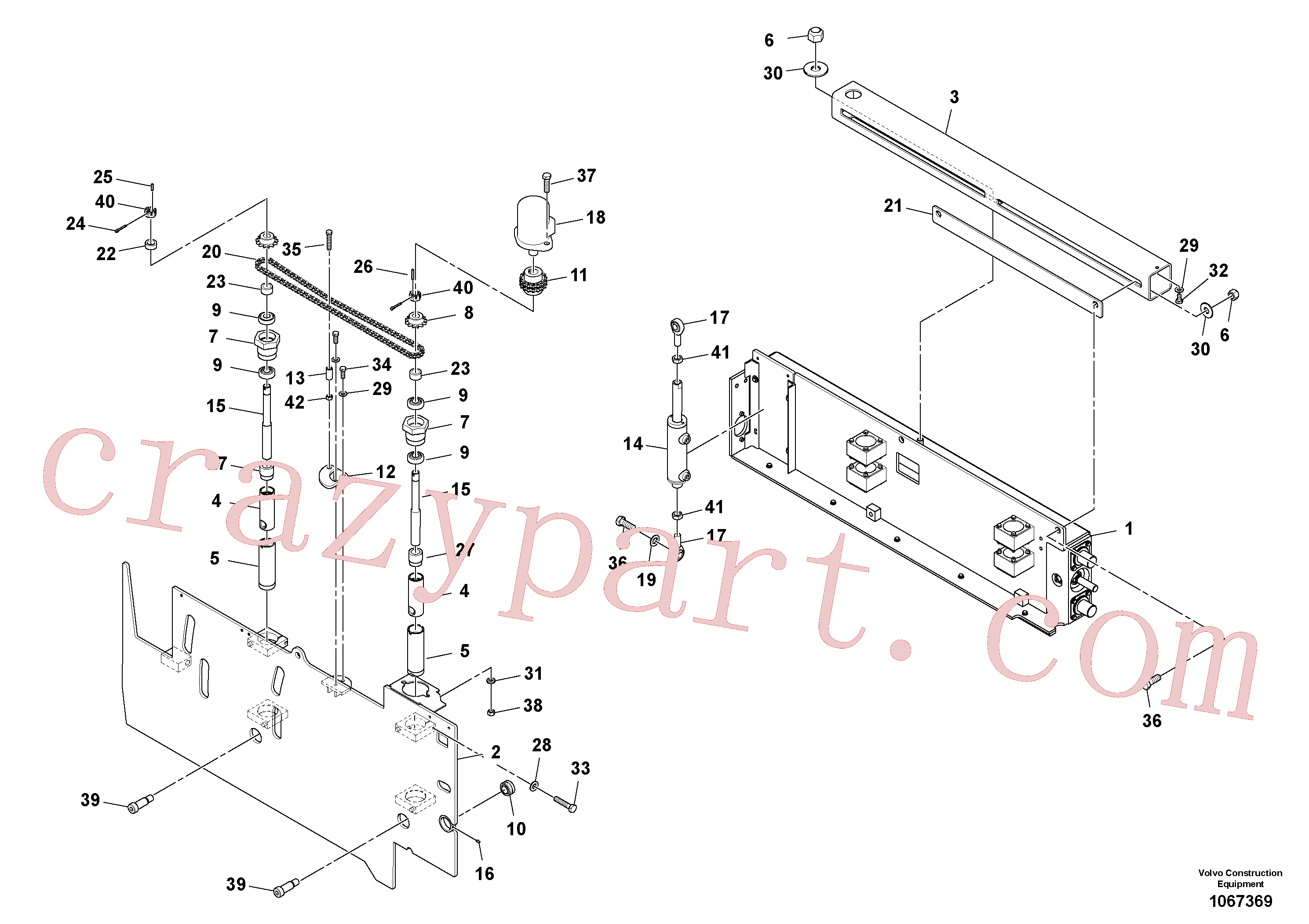 RM95935235 for Volvo Extension Assembly(1067369 assembly)