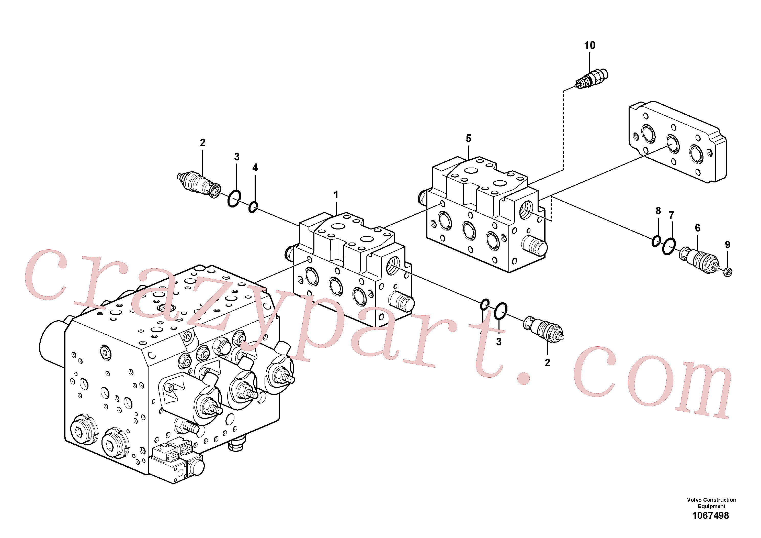 VOE17260229 for Volvo Valve(1067498 assembly)