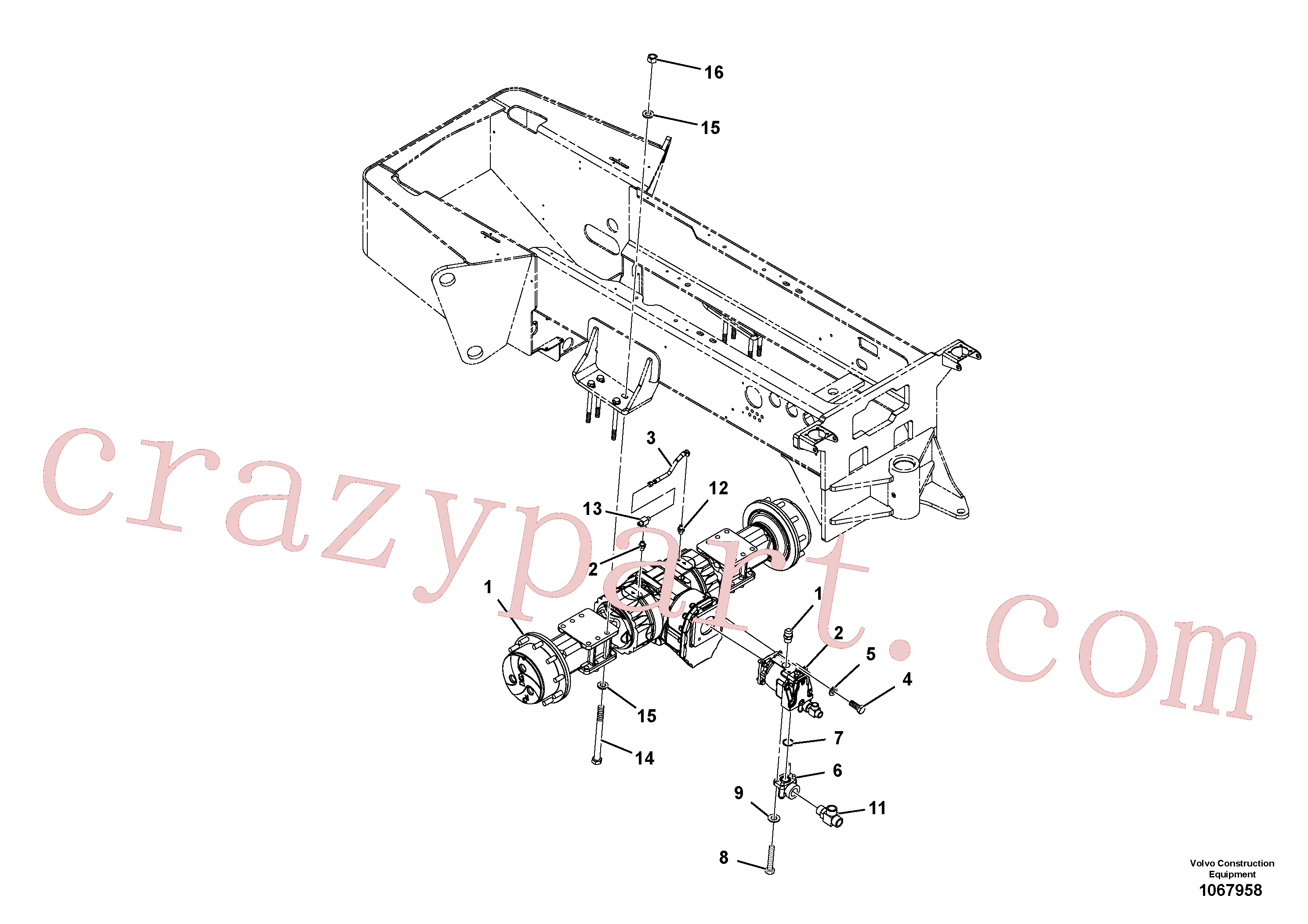 RM43844422 for Volvo Axle Installation(1067958 assembly)