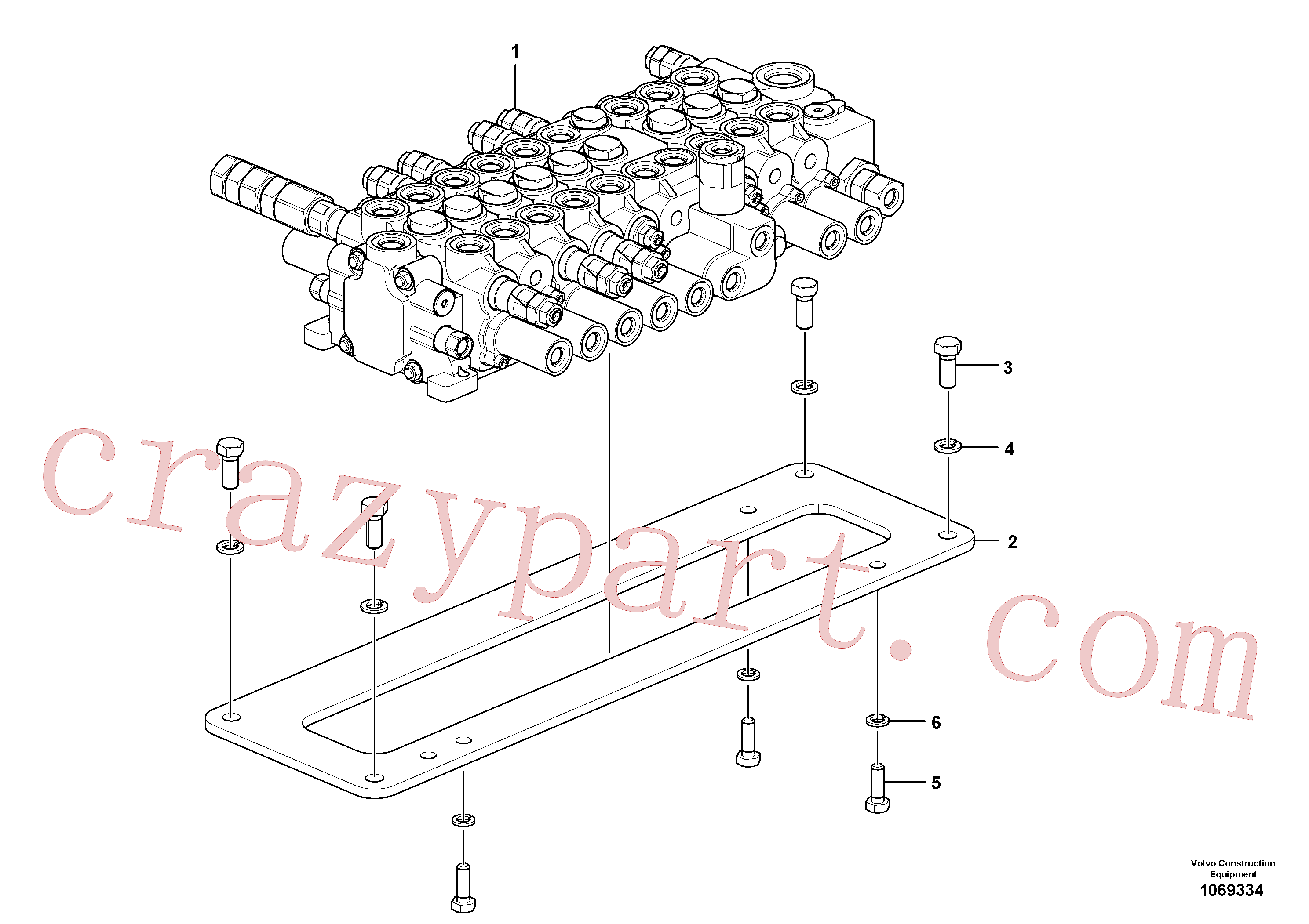 Volvo Assembly VOE14660902 Control valve for sale