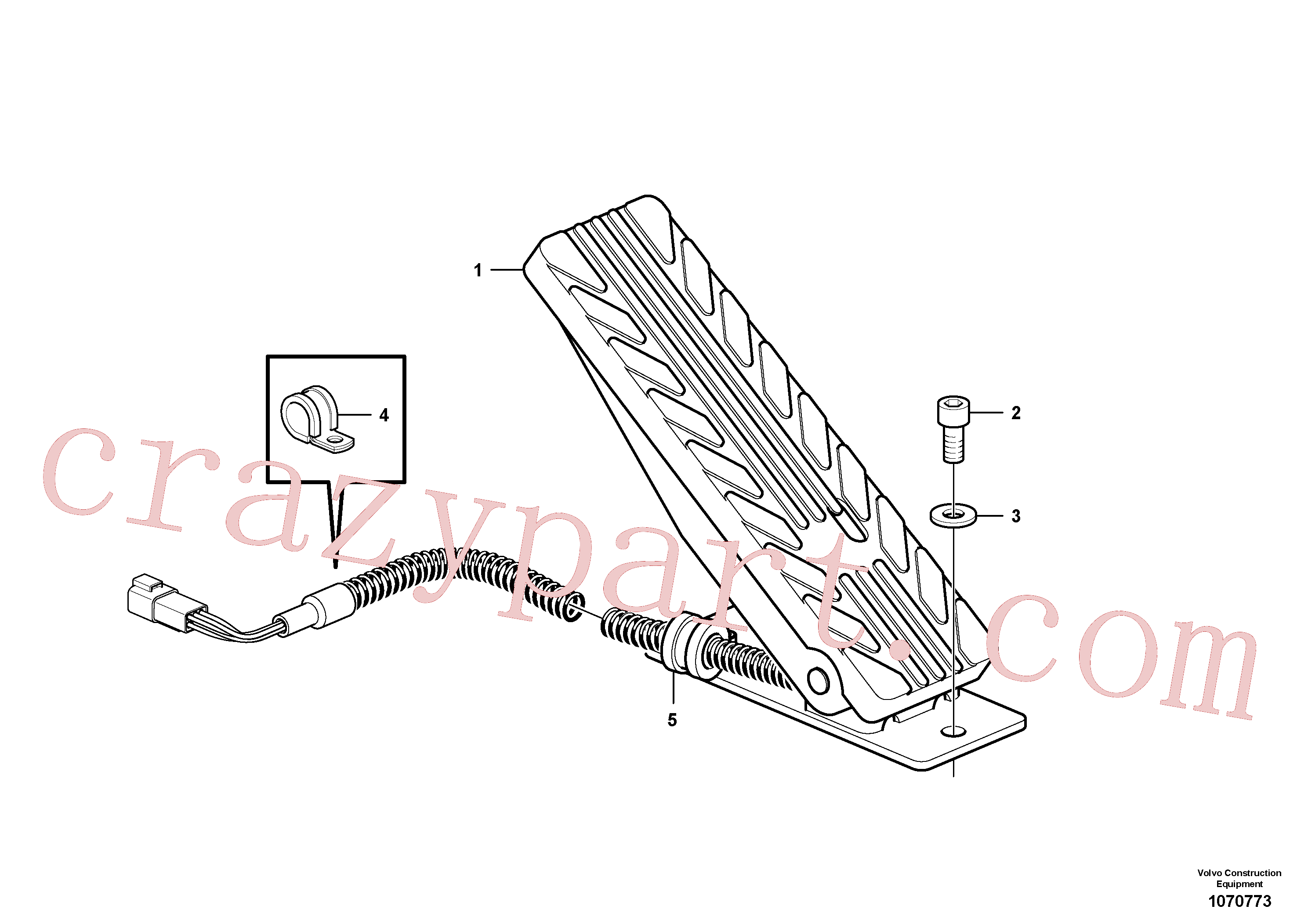 RM59117309 for Volvo Inching pedal(1070773 assembly)