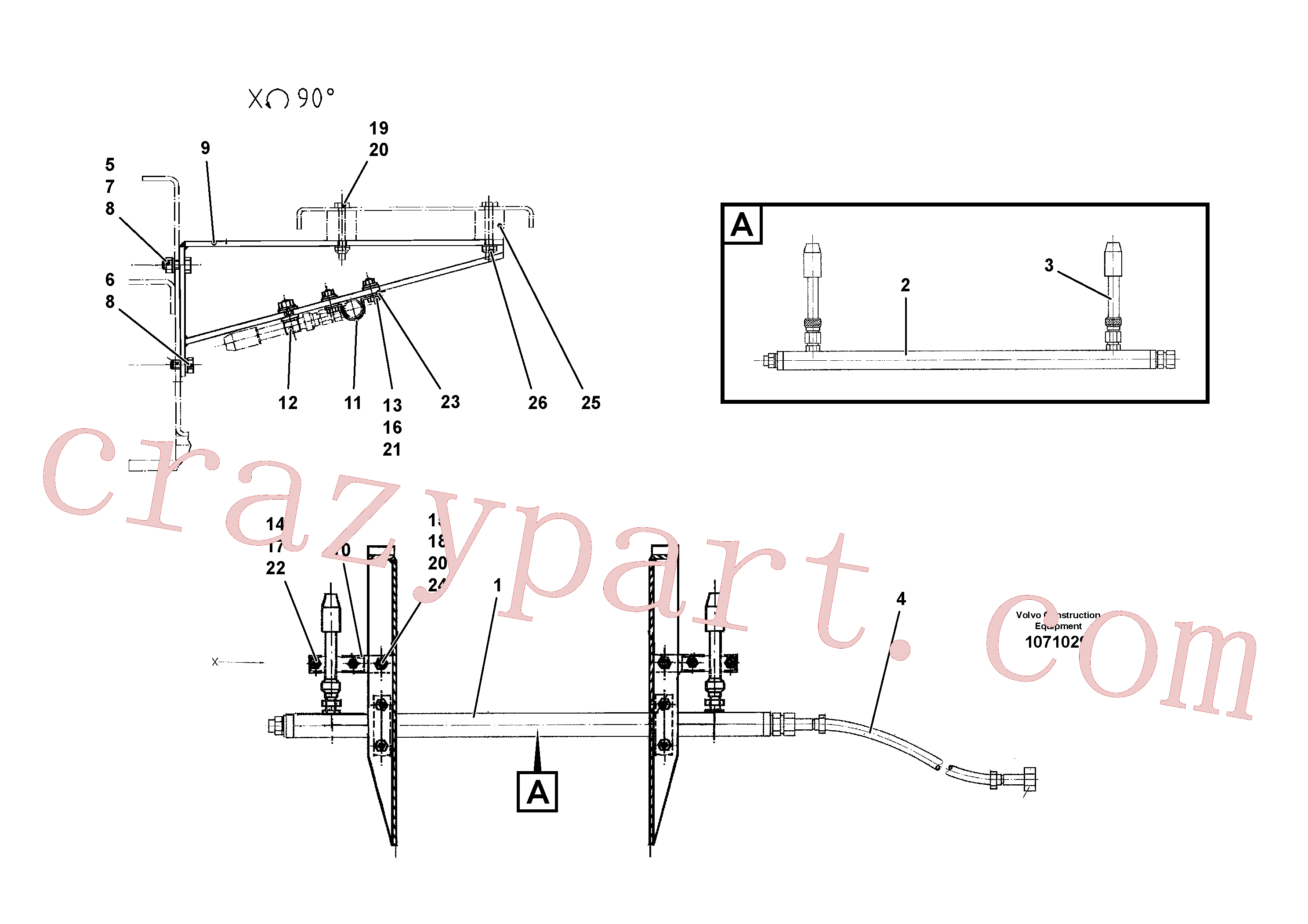 RM13909098 for Volvo Screed heating for extension(1071029 assembly)