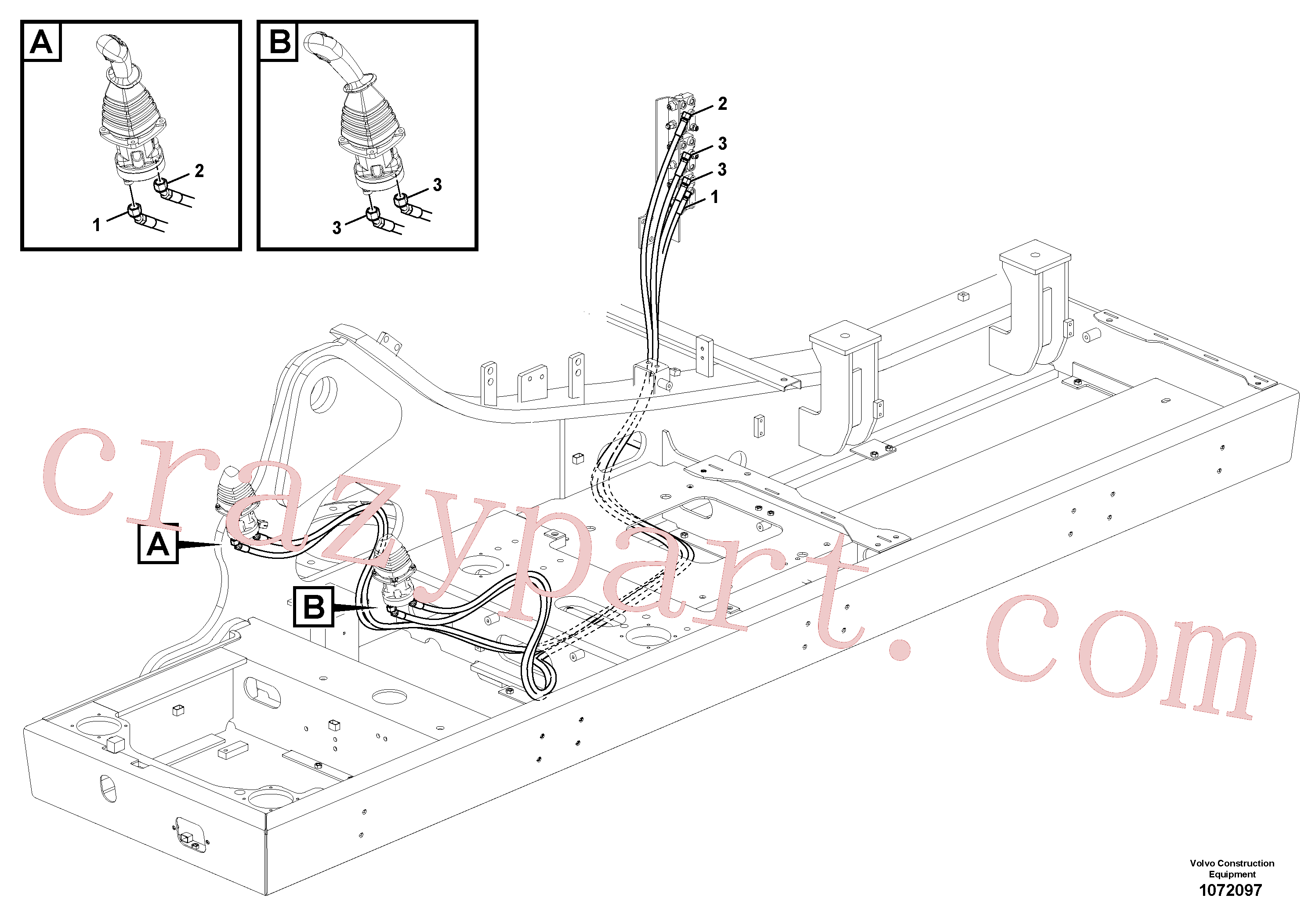VOE15135769 for Volvo Servo system, changing lever function(1072097 assembly)