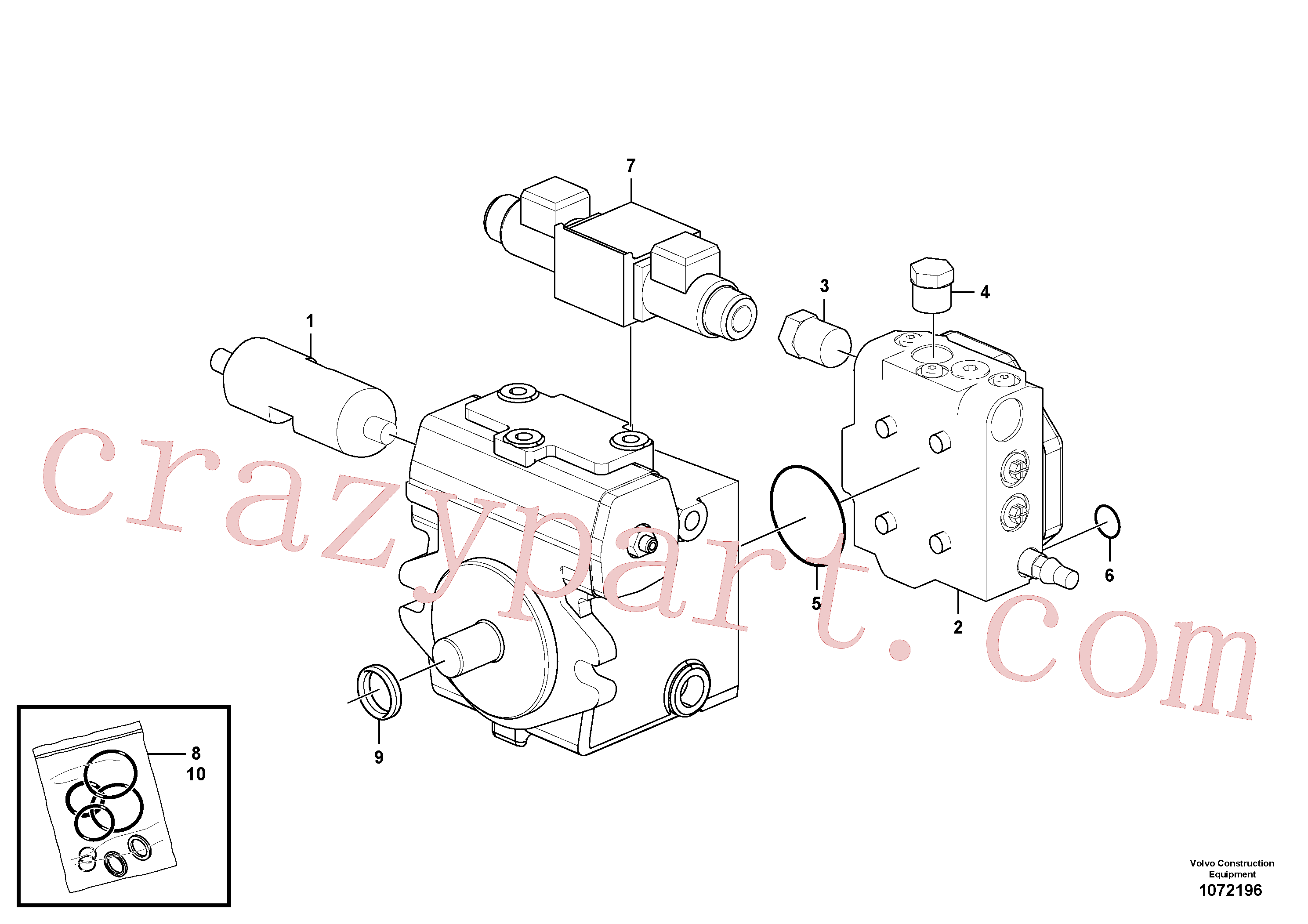 RM80813447 for Volvo Variable displacement pump(1072196 assembly)