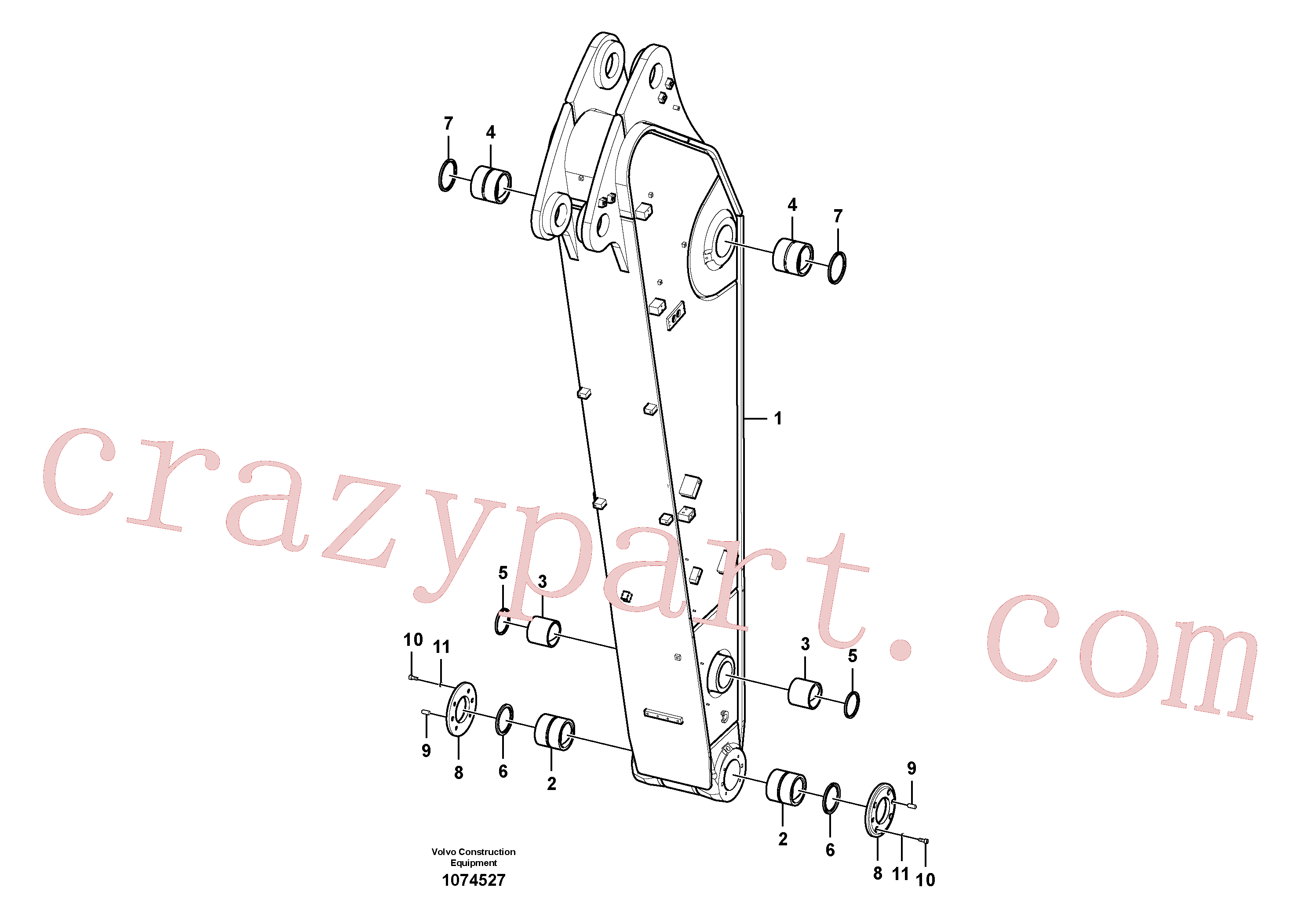 VOE14507548 for Volvo Dipper arm(1074527 assembly)