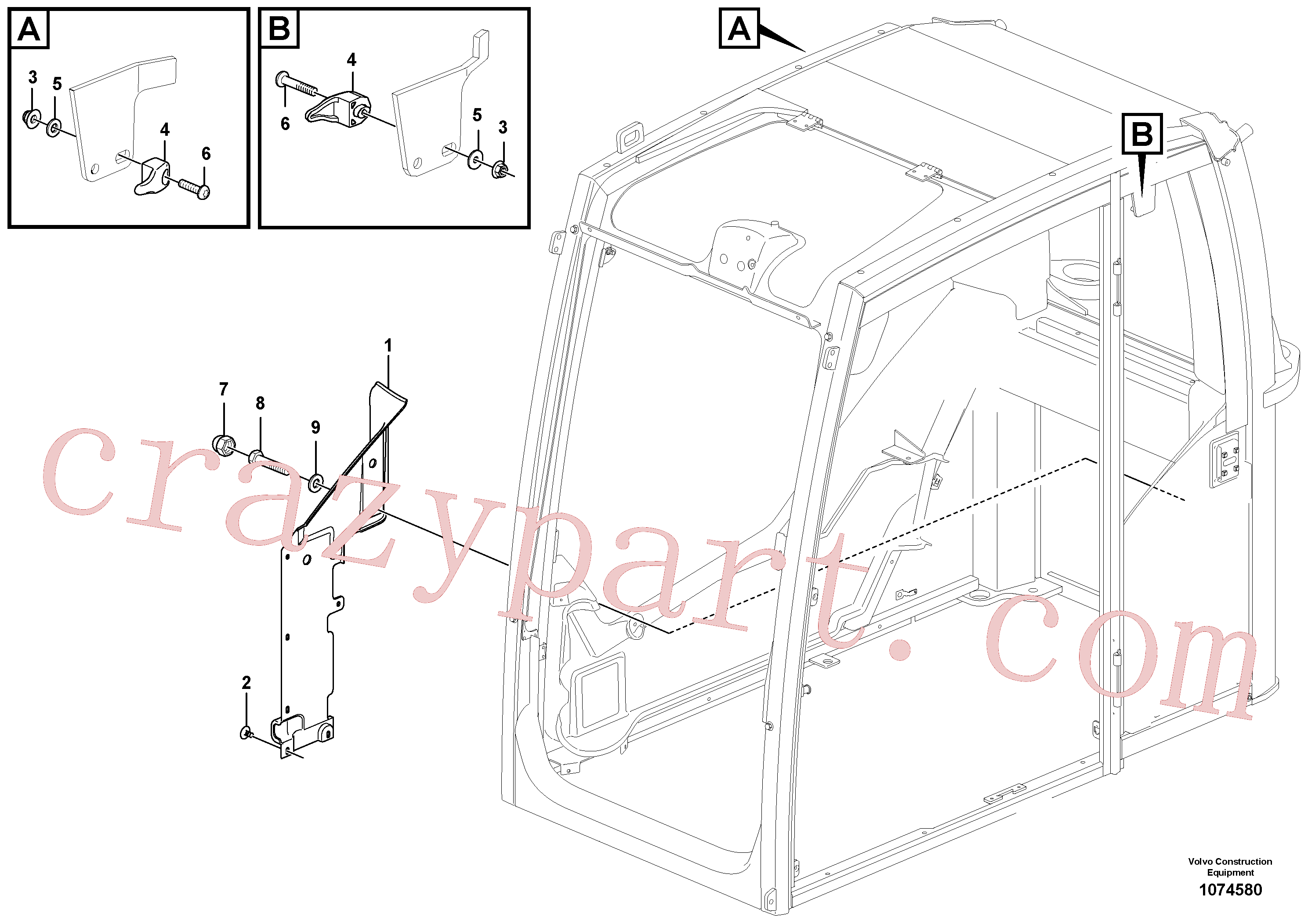VOE60113311 for Volvo Interior components(1074580 assembly)