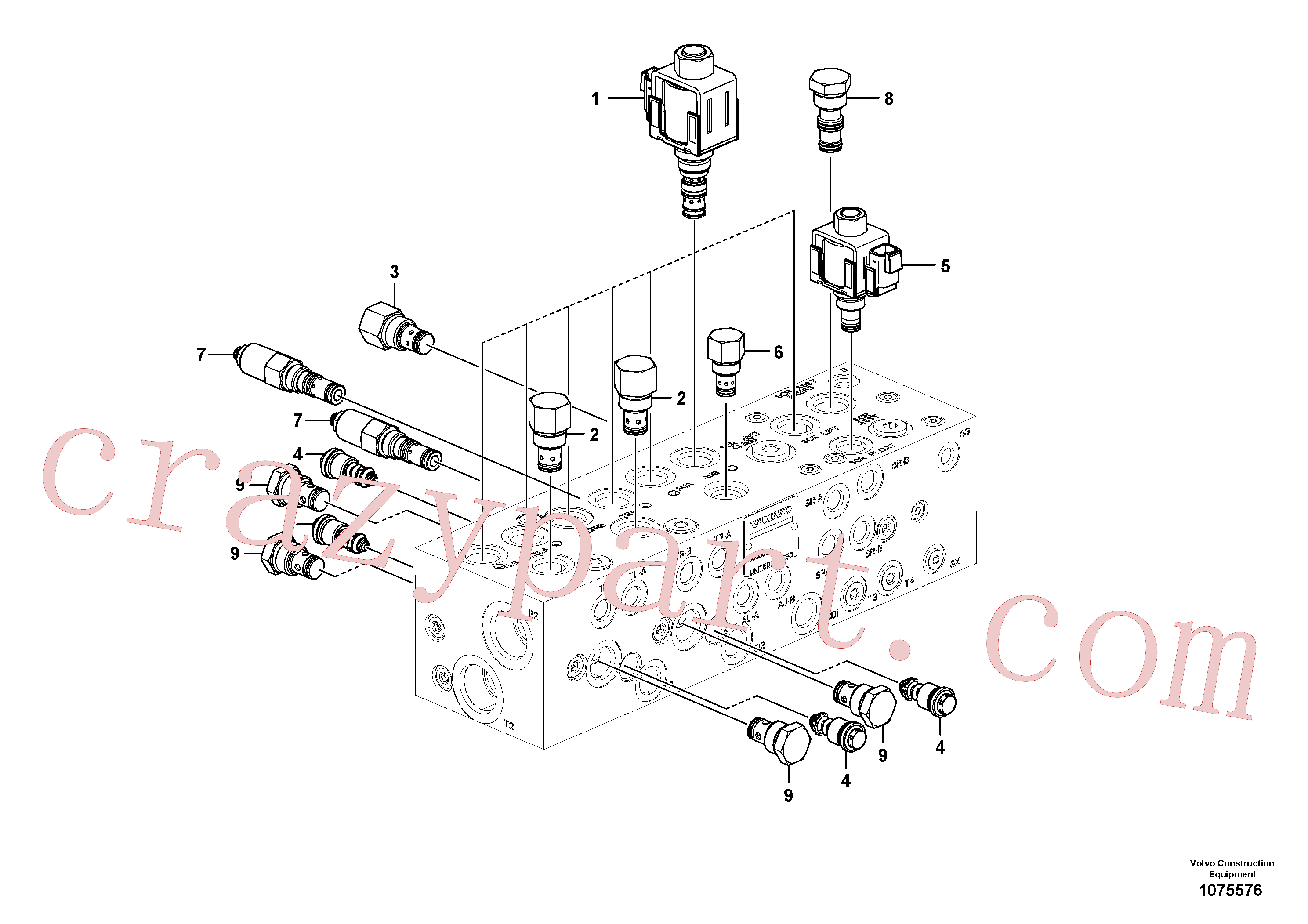 RM20928784 for Volvo Valve(1075576 assembly)