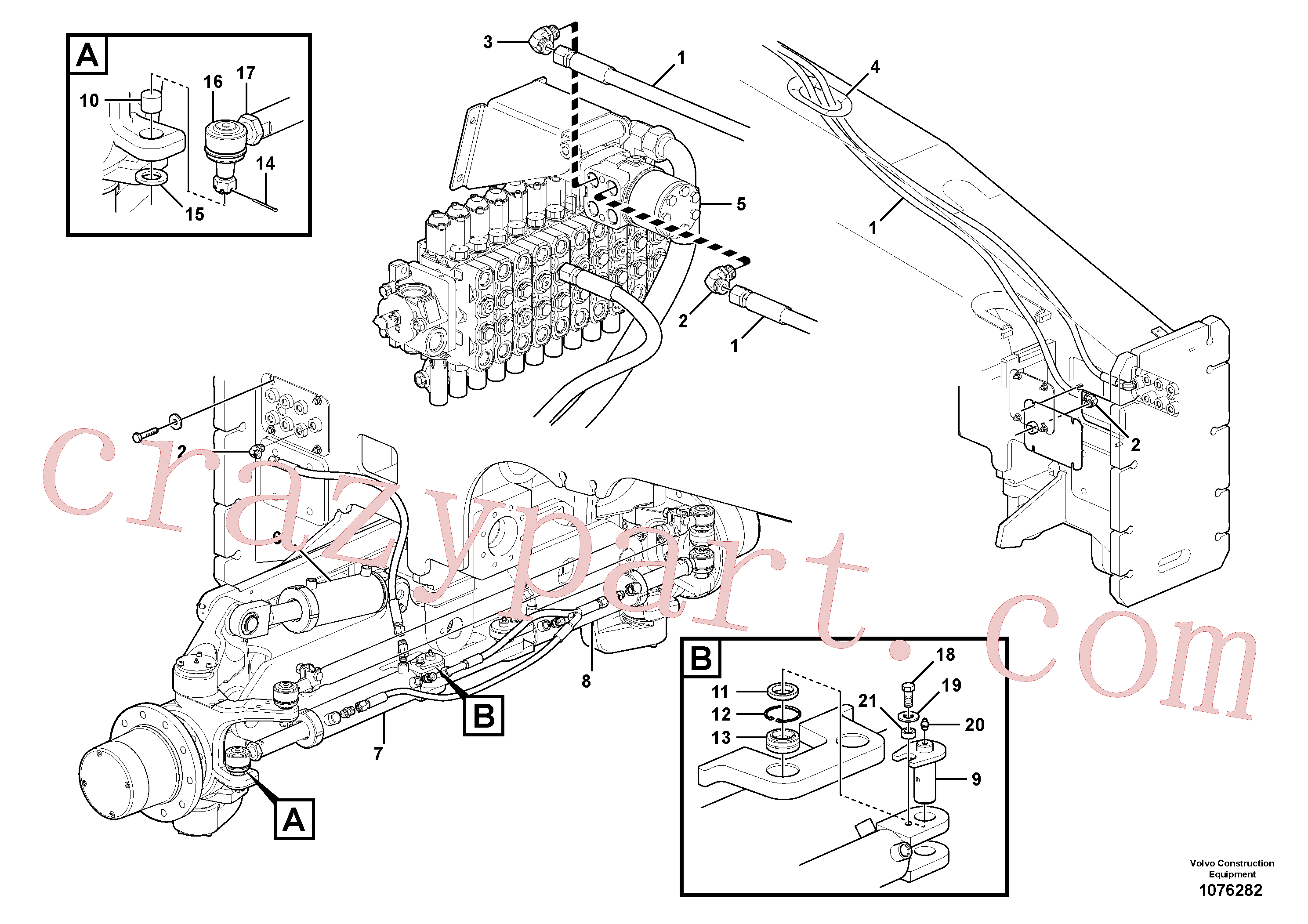 VOE184059 for Volvo Steering circuit(1076282 assembly)