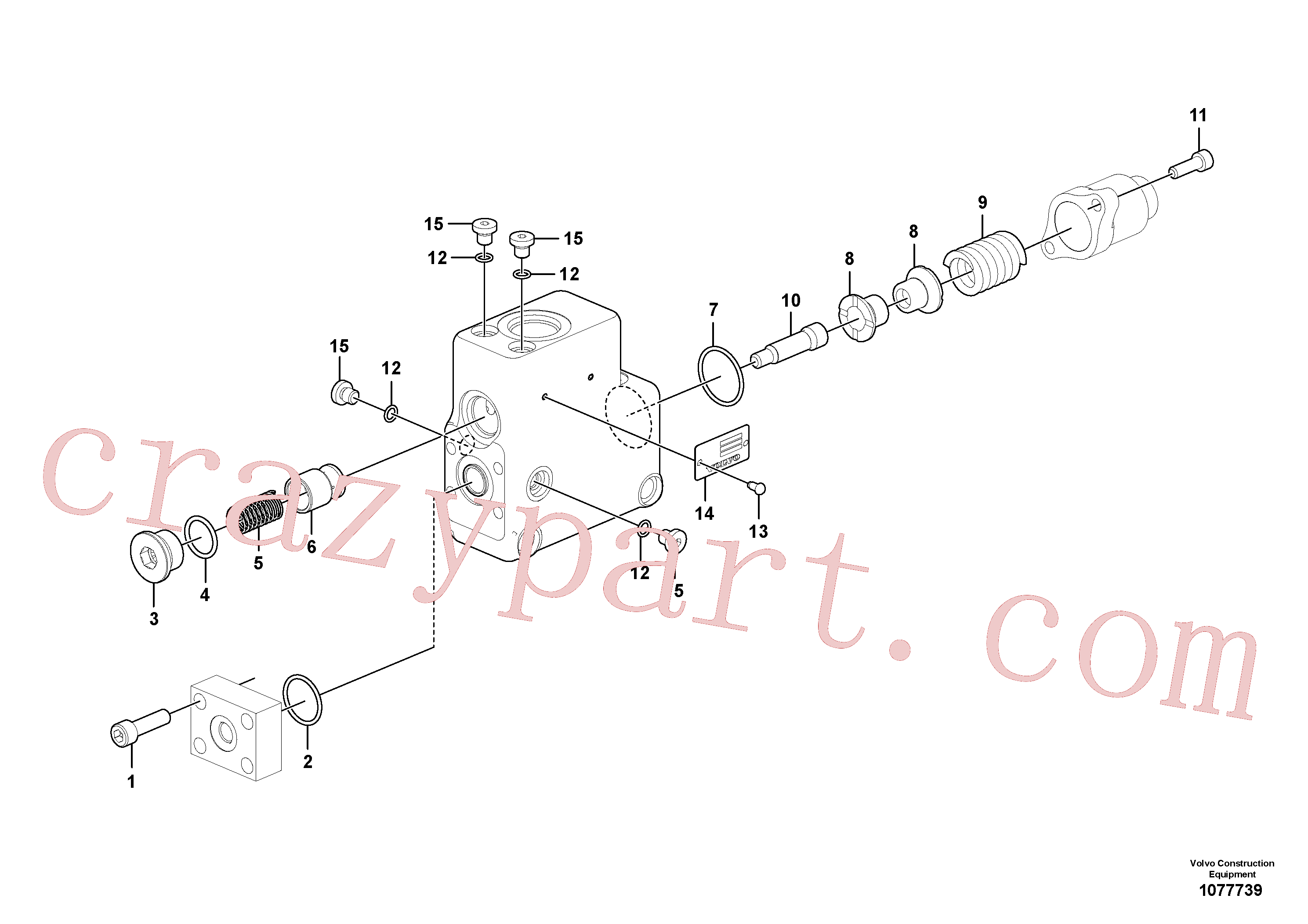 SA9512-02123 for Volvo Valve, float position(1077739 assembly)