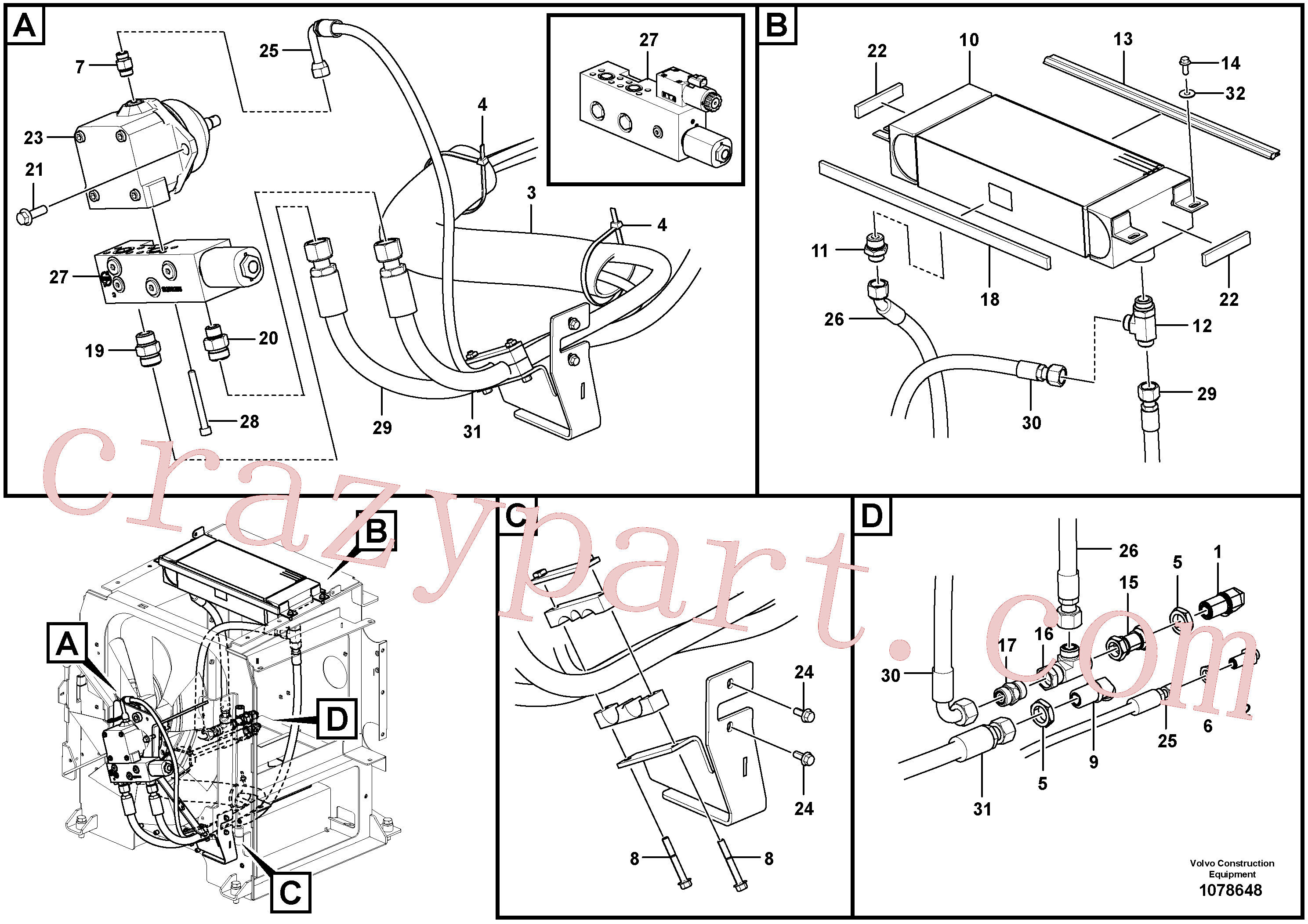 VOE935097 for Volvo Fan circuit - rear(1078648 assembly)