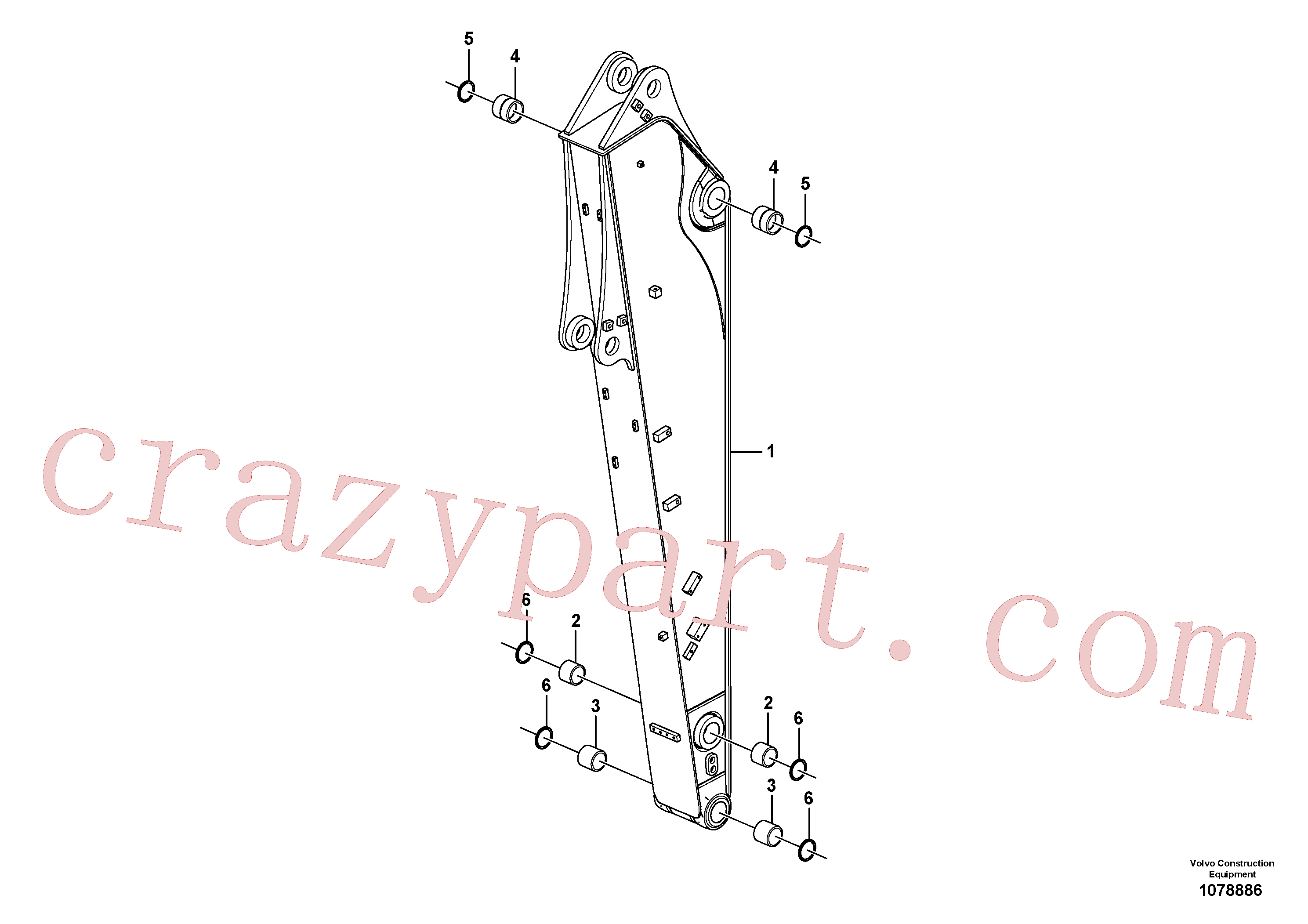 VOE14513142 for Volvo Dipper arm(1078886 assembly)