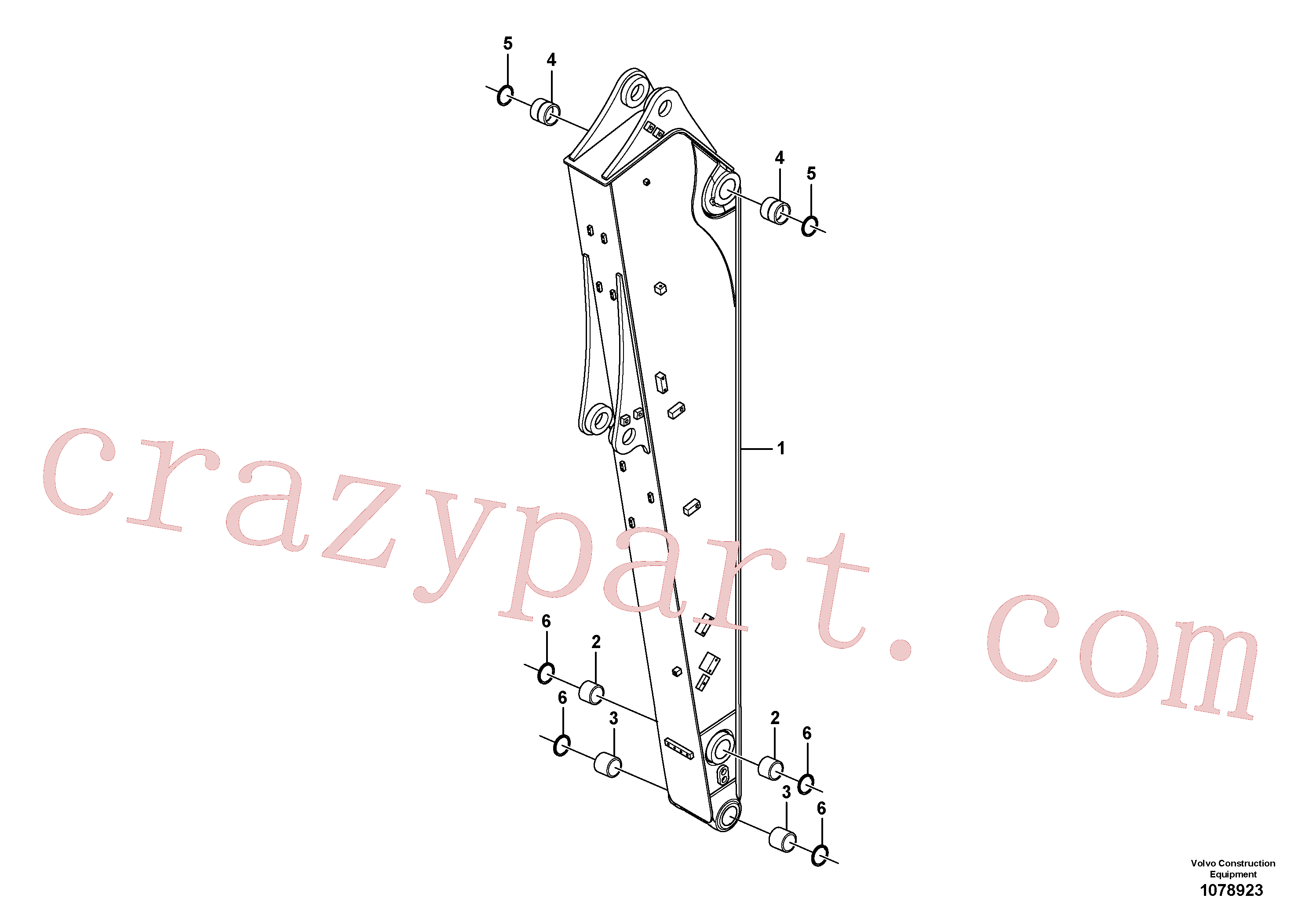 VOE14513142 for Volvo Dipper arm(1078923 assembly)