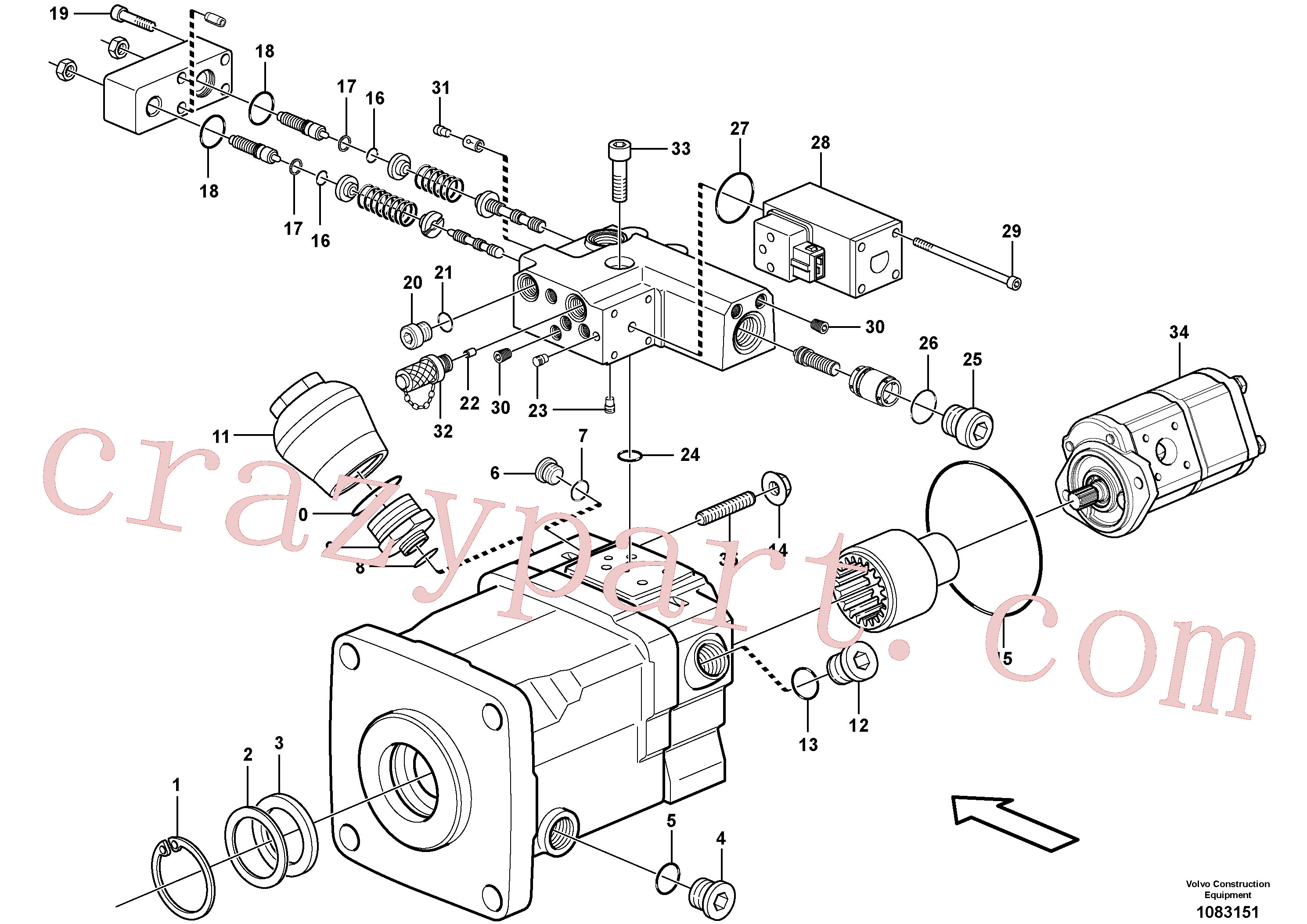 VOE11705602 for Volvo Pump(1083151 assembly)