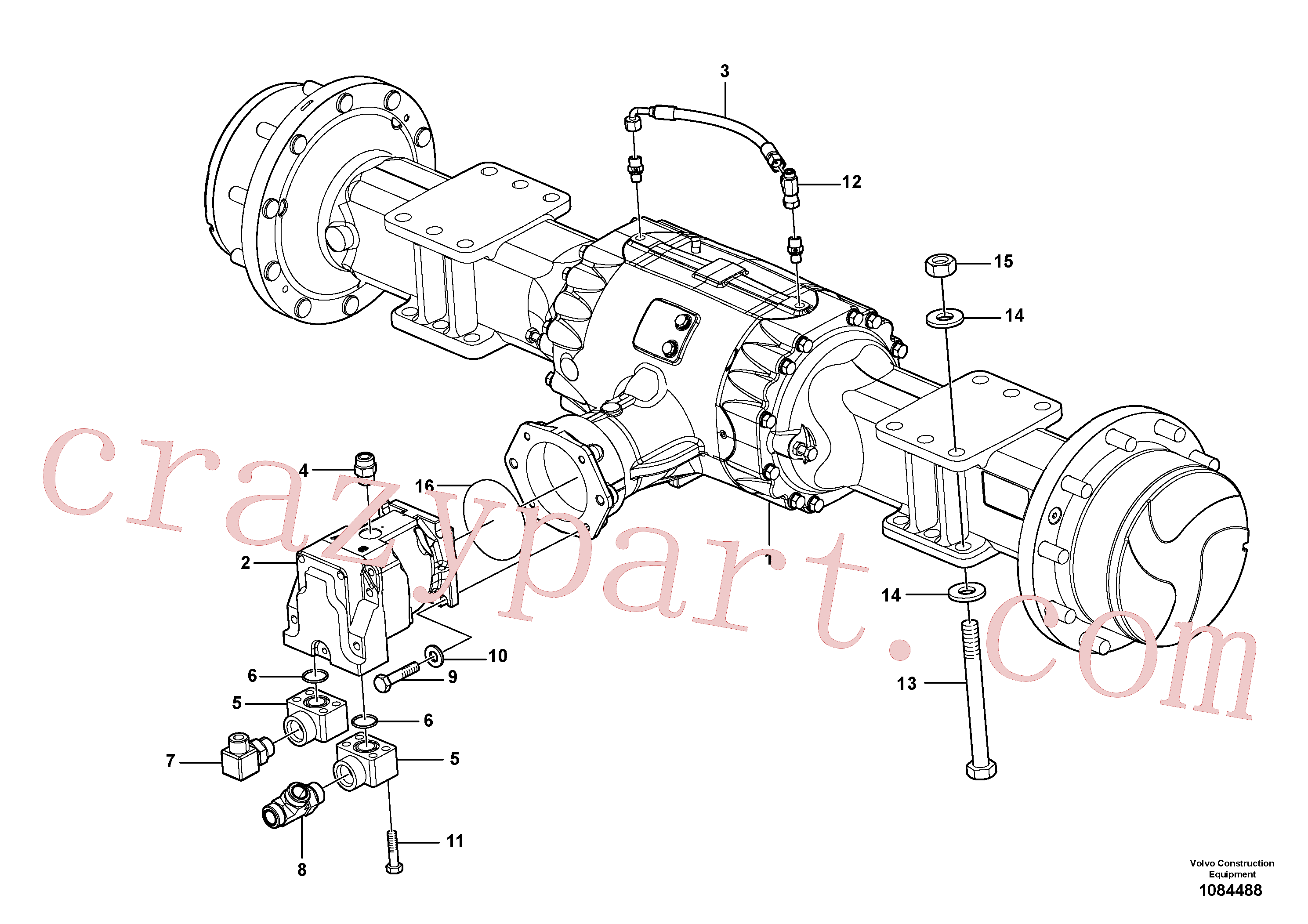 VOE935097 for Volvo Axle Installation(1084488 assembly)