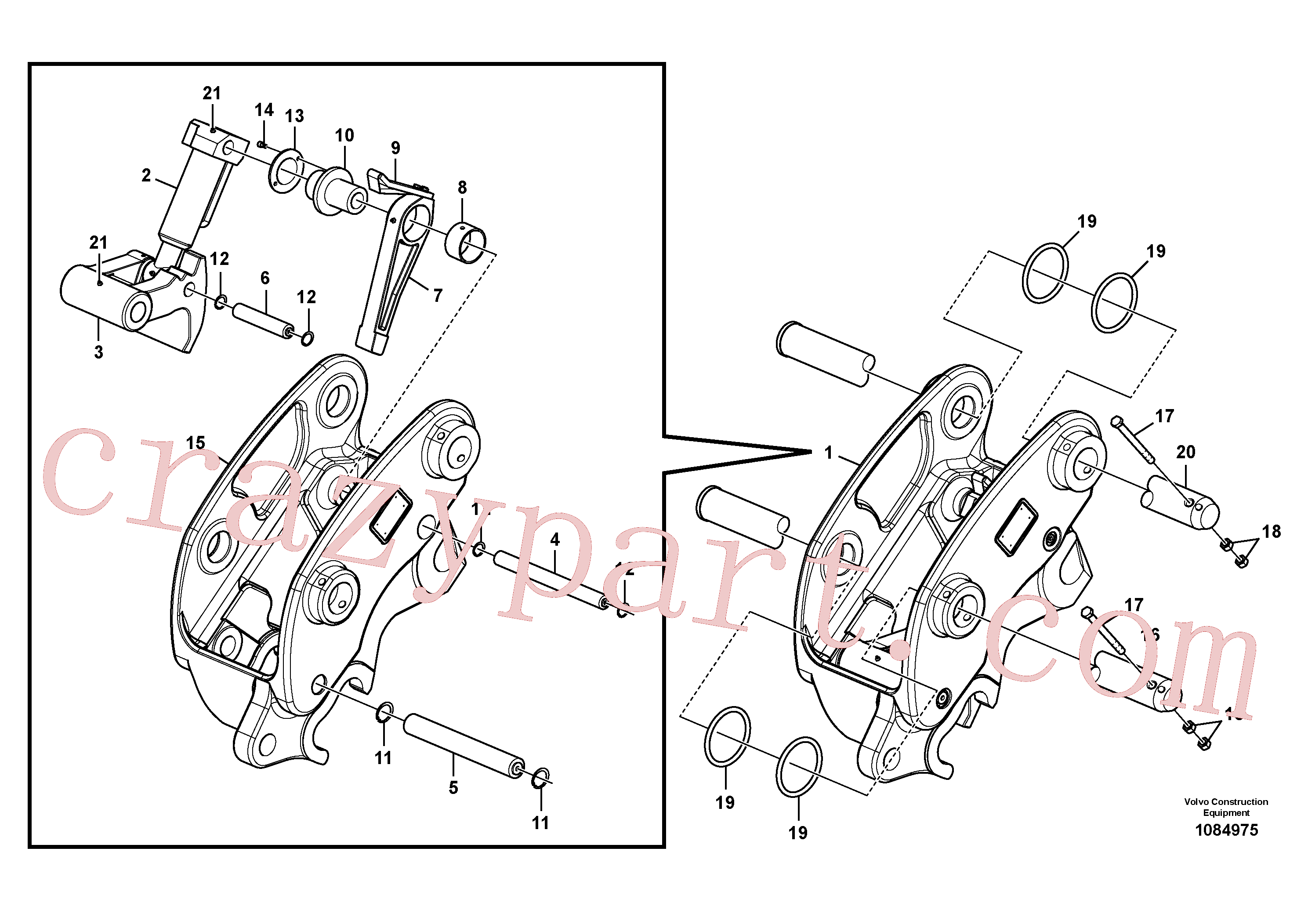 VOE14547879 for Volvo Attachment bracket, quickfit(1084975 assembly)