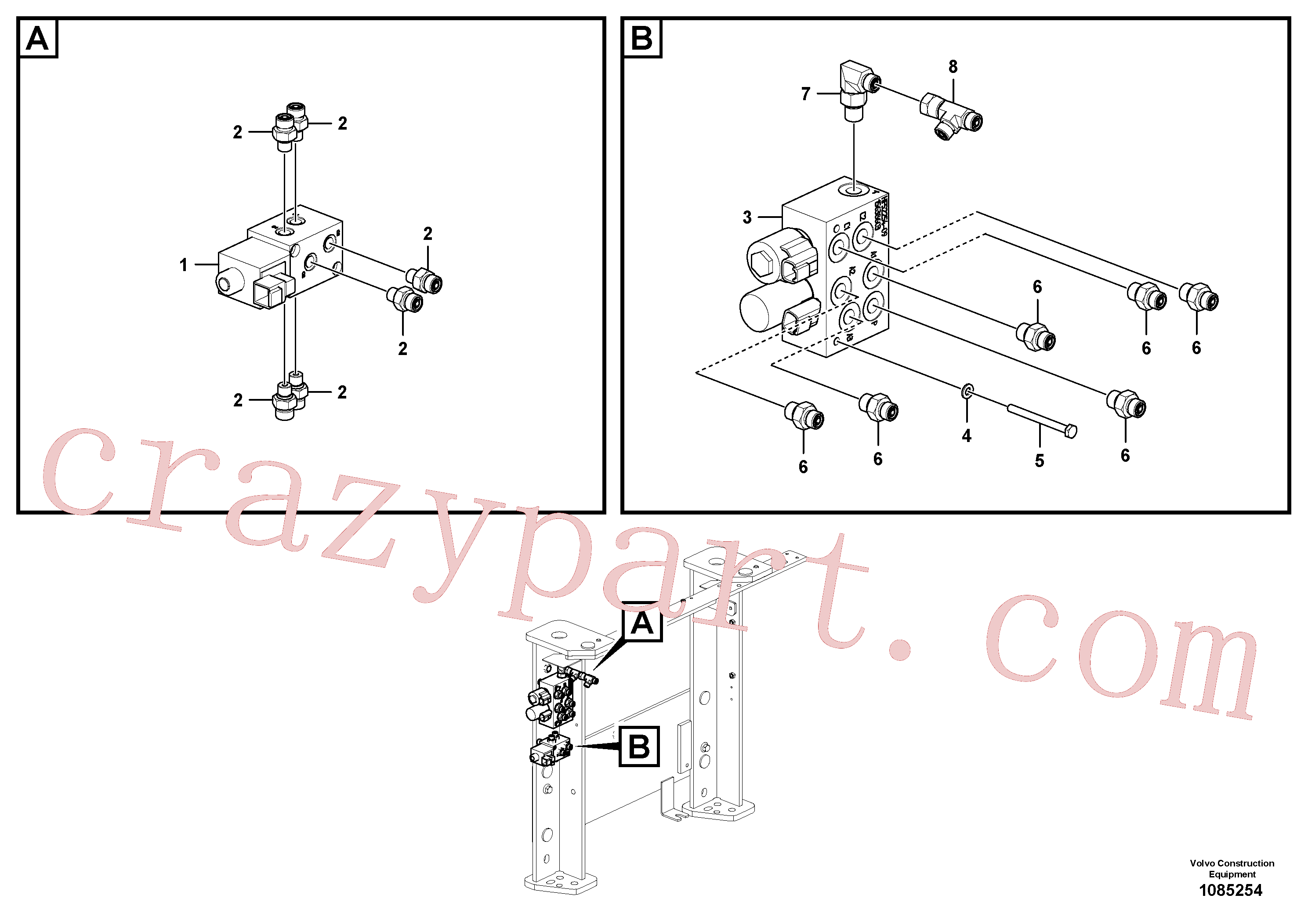 VOE14576779 for Volvo Hydraulic valve(1085254 assembly)